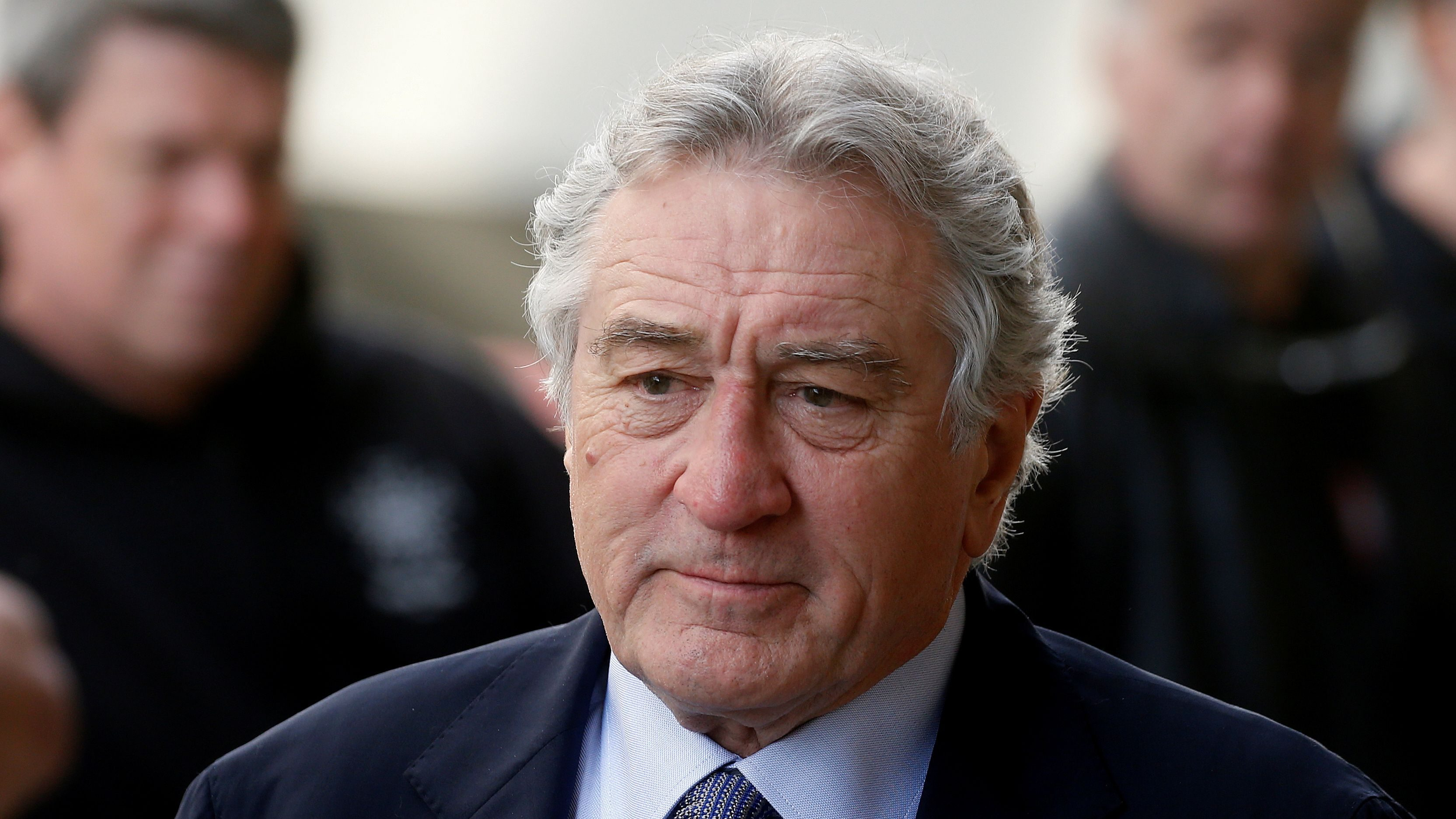 FILE PHOTO: Actor Robert De Niro arrives to receive his Chaplin Award from the Film Society of Lincoln Center in the Manhattan borough of New York, U.S. May 8, 2017. REUTERS/Carlo Allegri/File Photo - RC1E44AC9A50