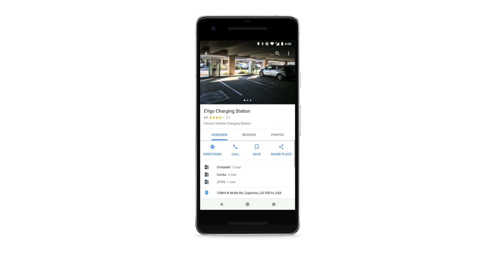 Google Maps Now Offers Navigation To Electric Car Charging Stations Screen Shot 4 Quartz