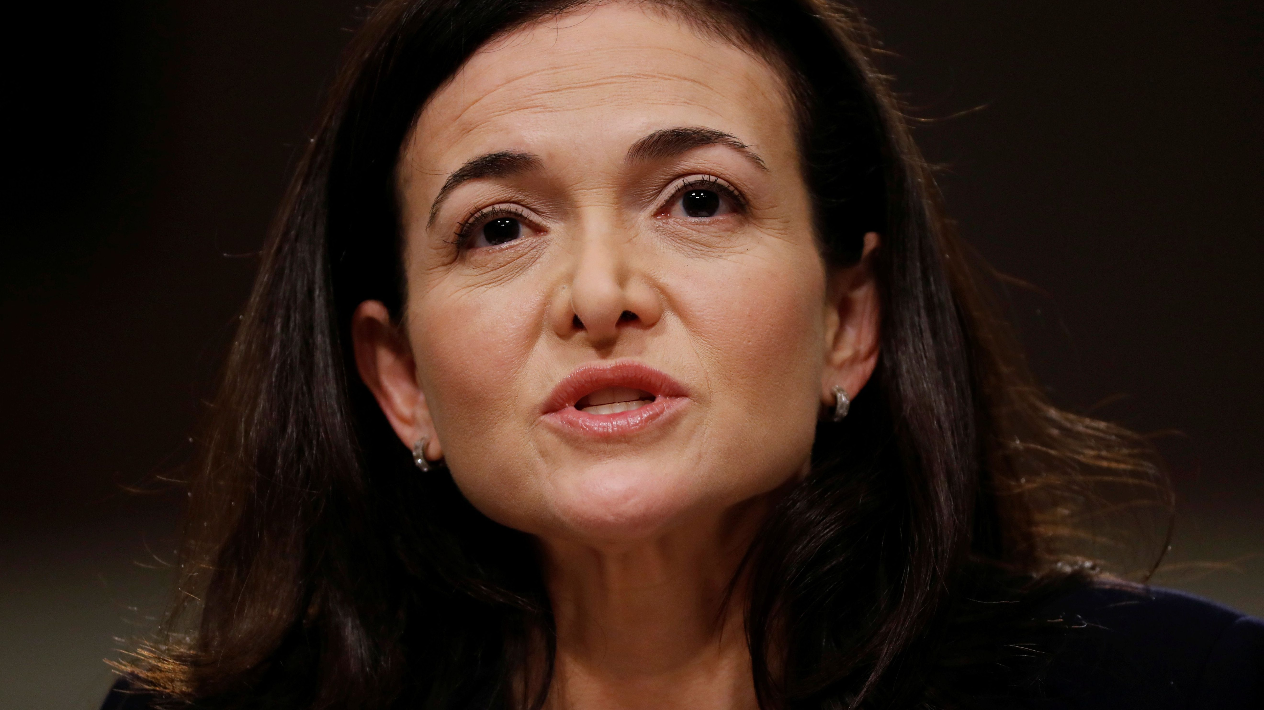Facebook COO Sheryl Sandberg testifies before a Senate Intelligence Committee hearing on foreign influence operations on social media