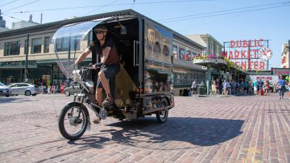 UPS e-bike seattle