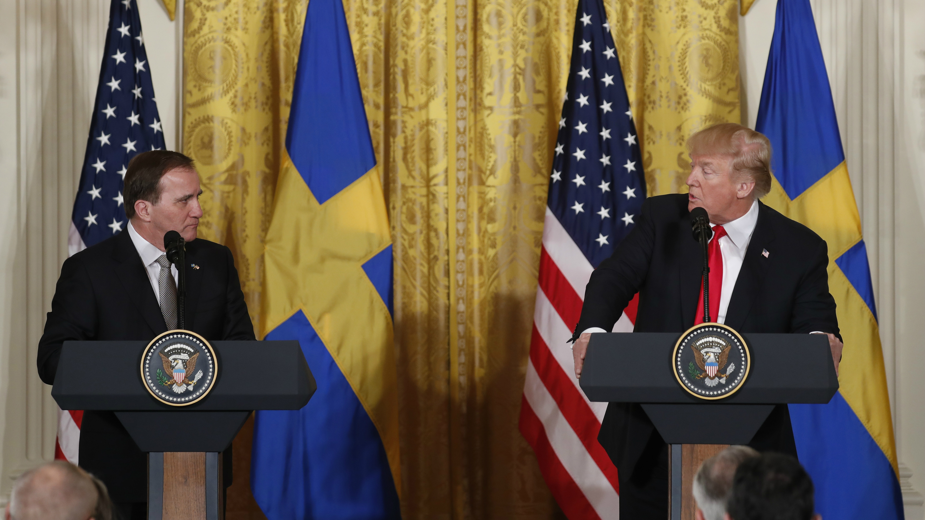 U.S. President Trump and Sweden's Prime Minister Lofven hold joint news conference at the White House