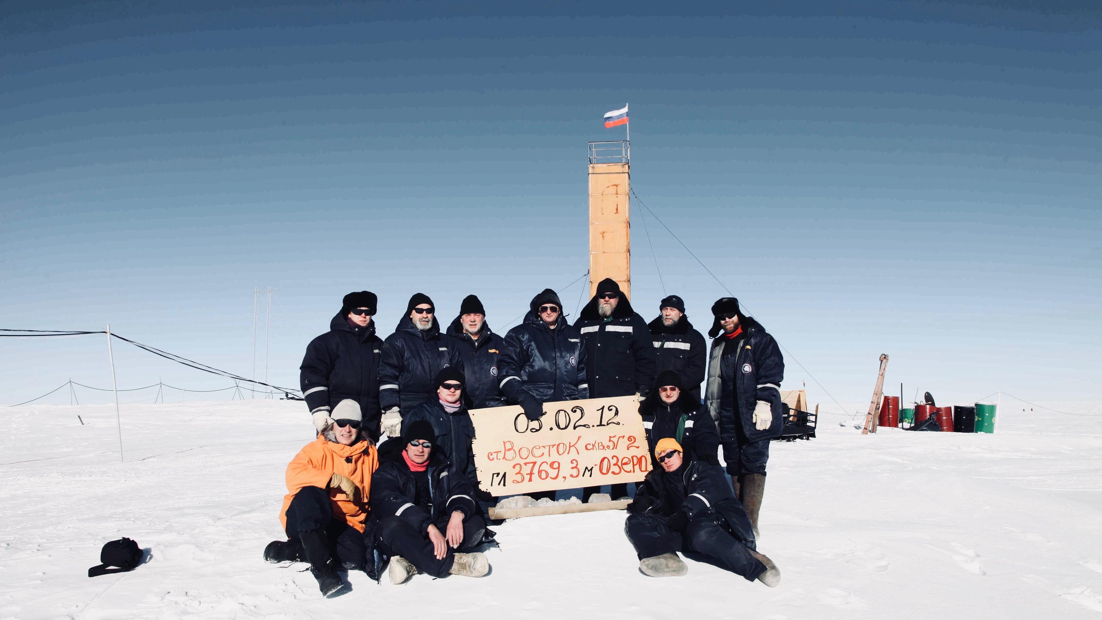 Russian researchers in Antarctica.