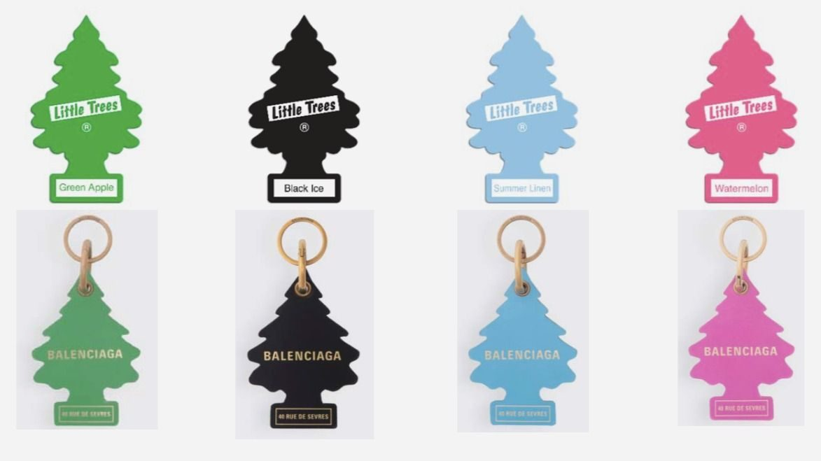 Balenciaga Is Being Sued For Copying Those Tree Shaped Air Fresheners With Its 275 Key Rings