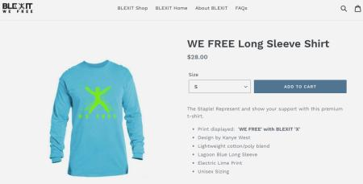 """""""Blexit"""" shirt"""