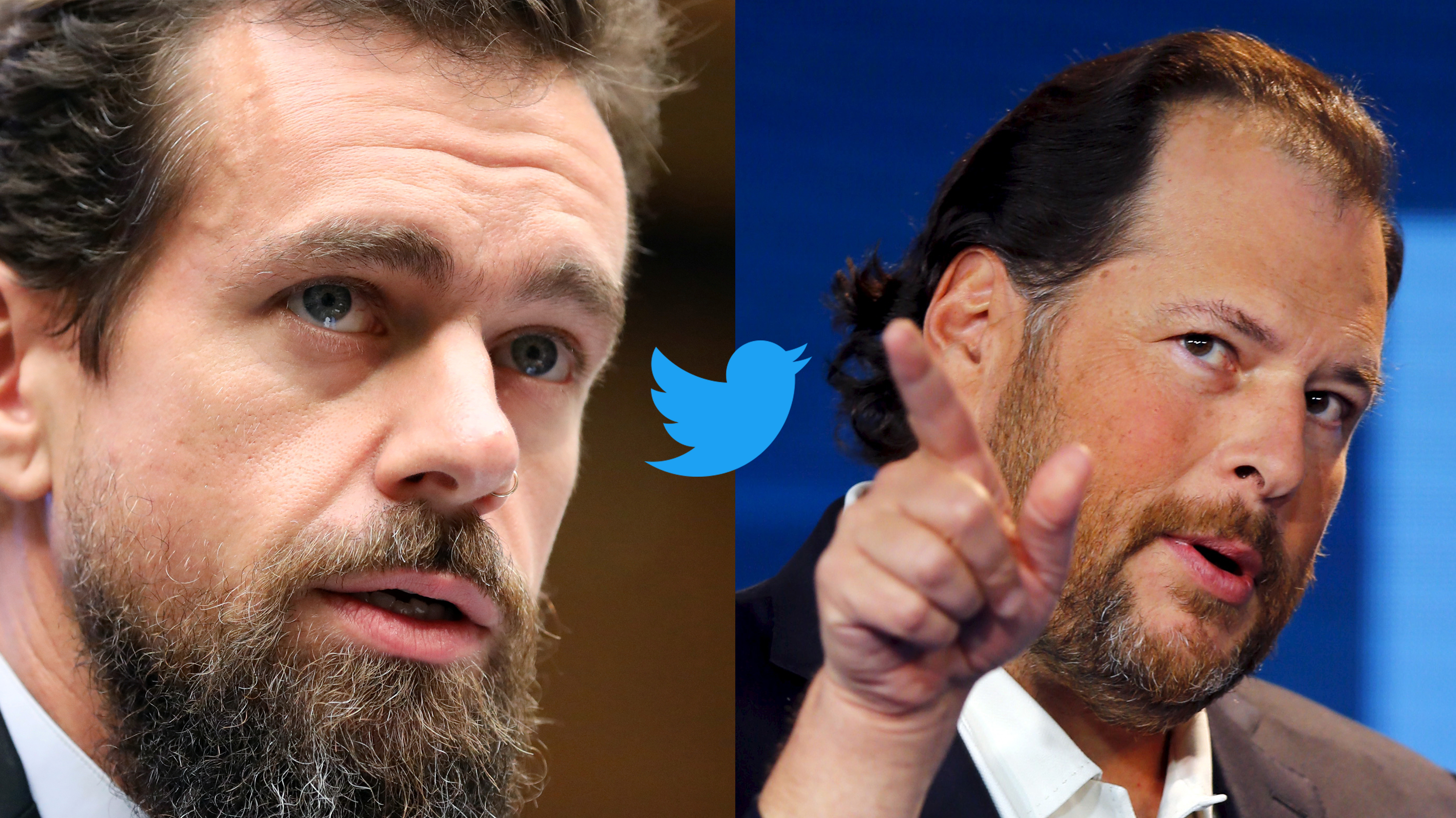 Jack Dorsey and Marc Benioff