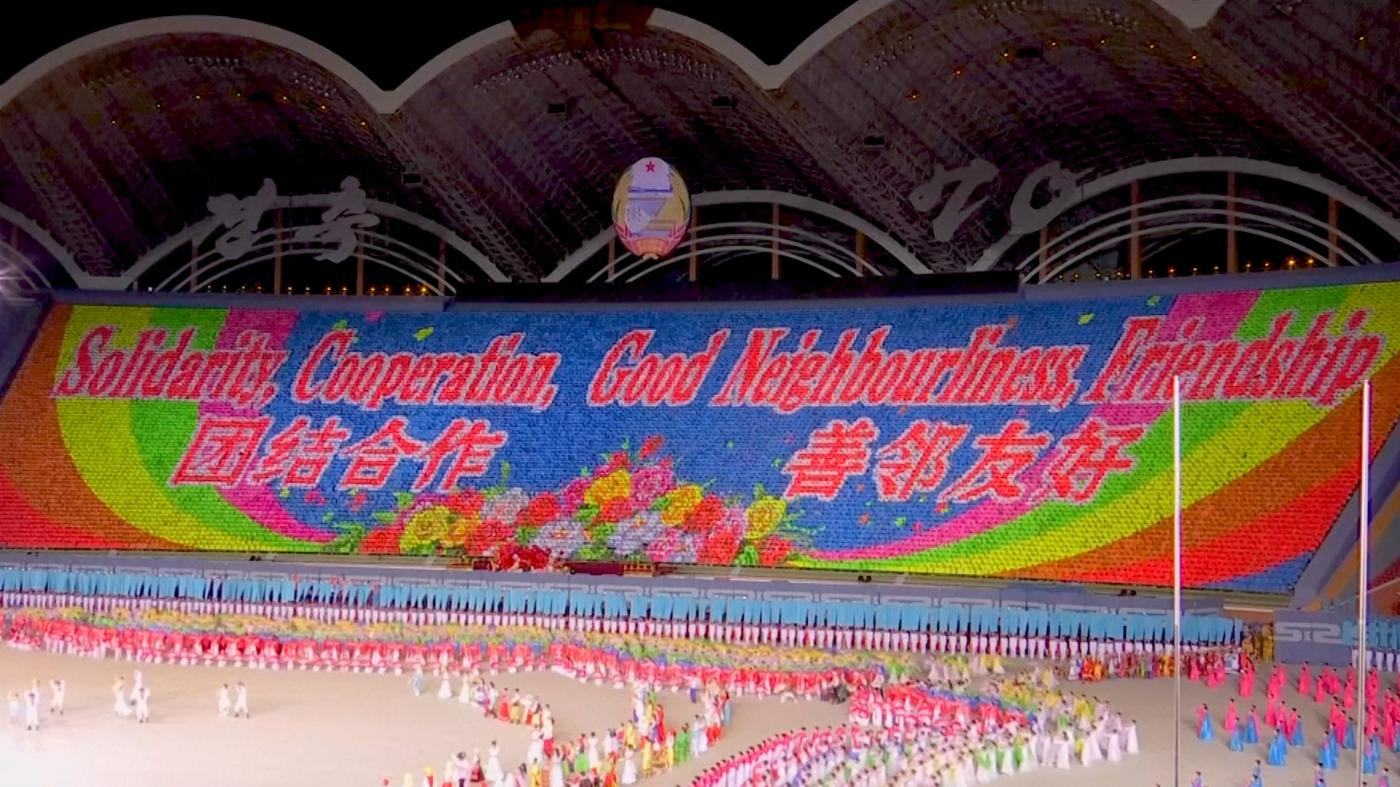 North Korea's 'Mass Games' are back – with a striking twist