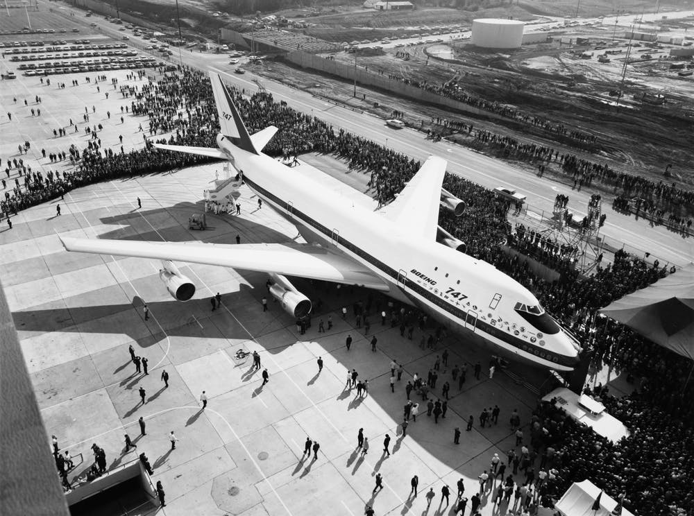 Boeing 747 on display to the public for the first time in 1968