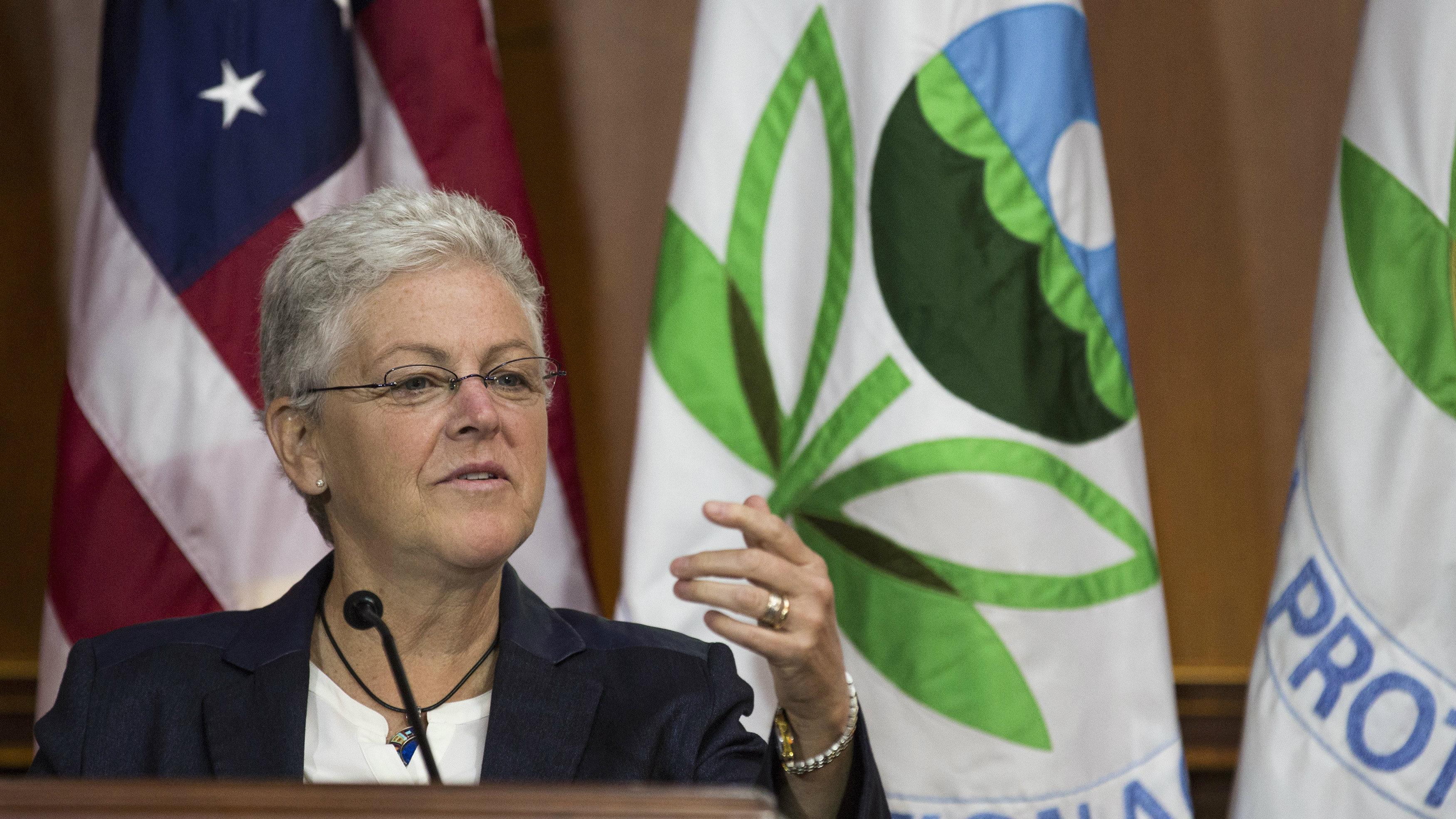 Former EPA administrator Gina McCarthy
