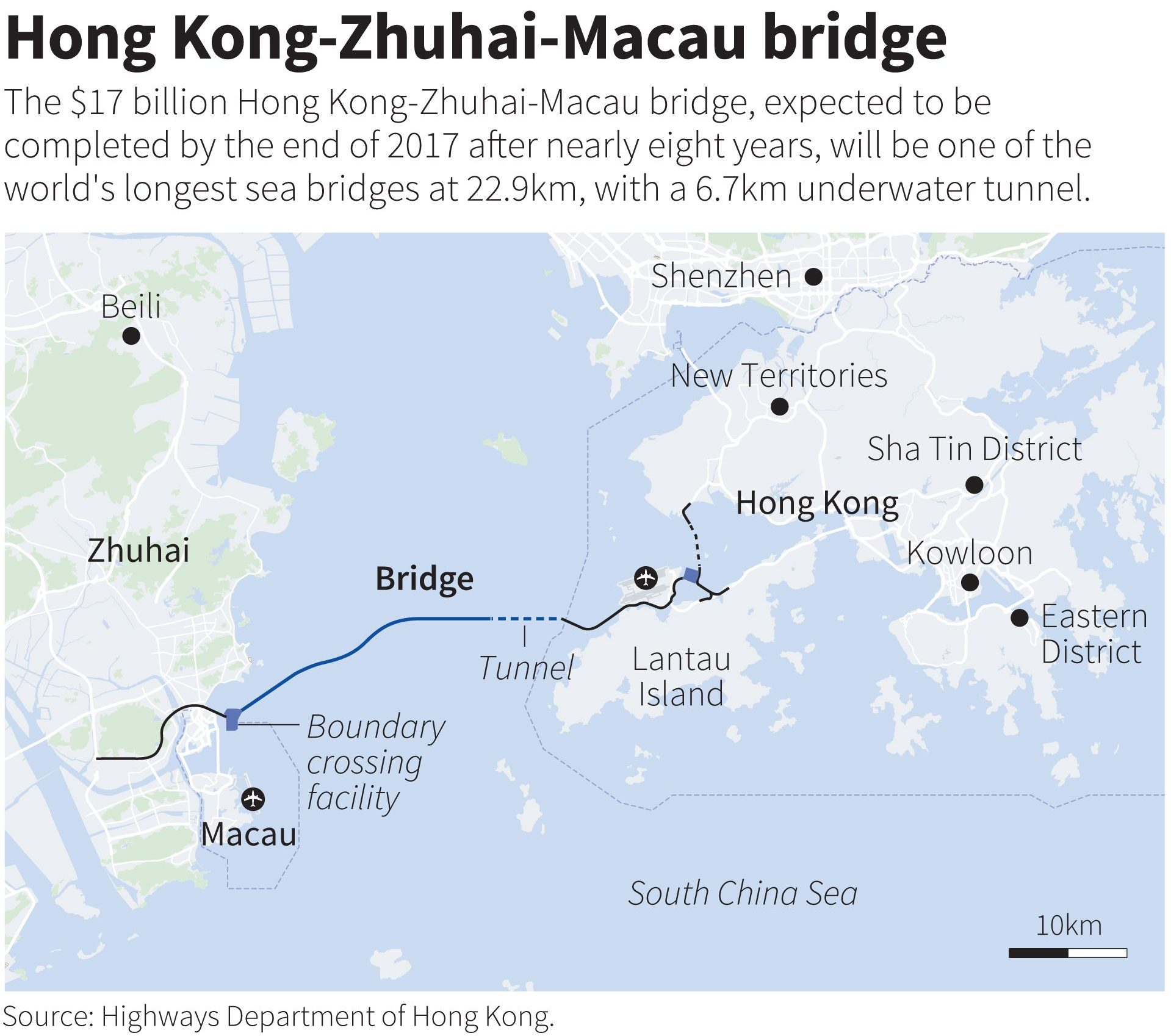 The Hong Kong-Zhuhai-Macau bridge.