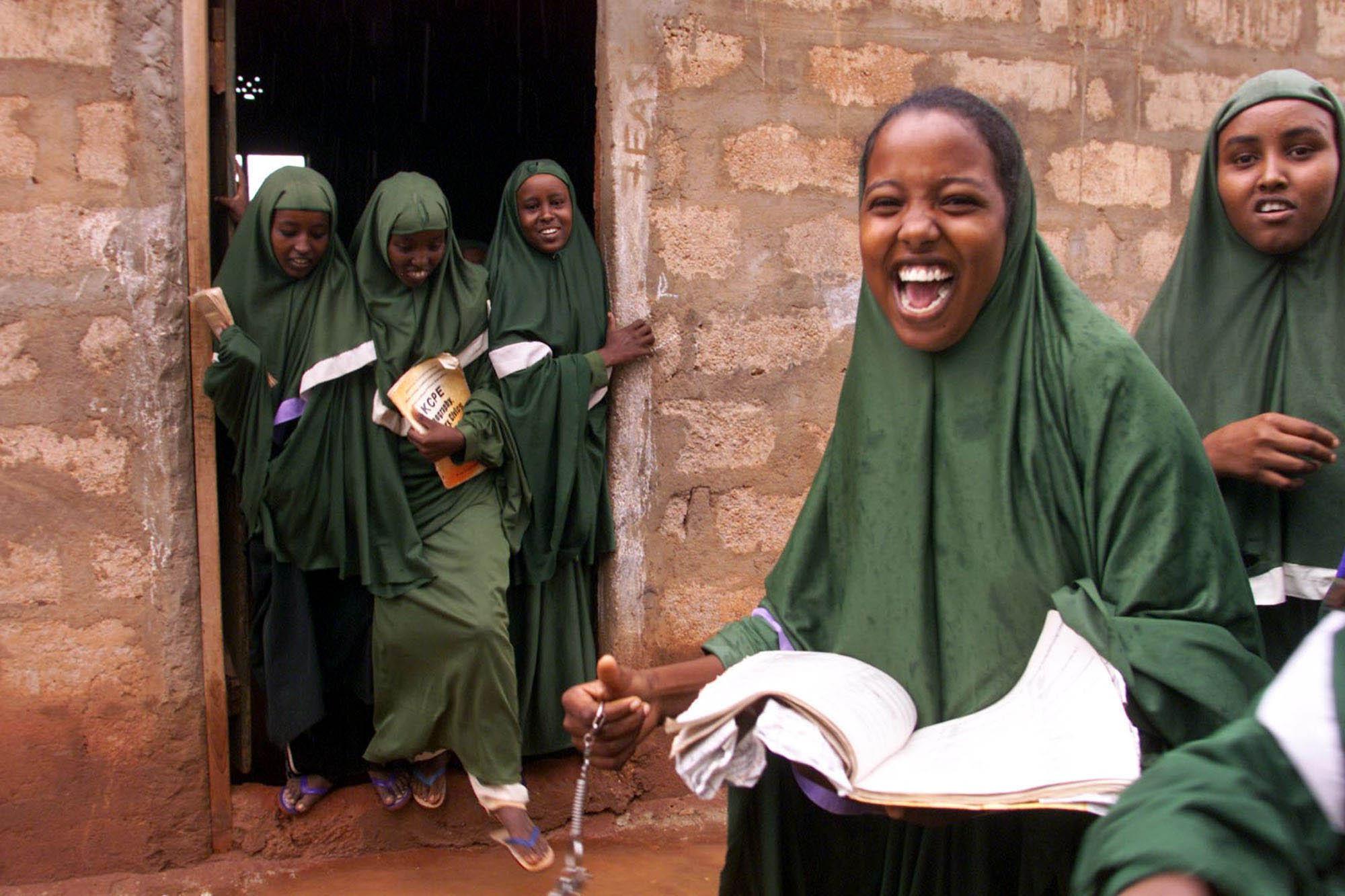 GIRLS at school in Kenya