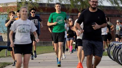 Texas Democratic Congressman Beto O'Rourke on a run