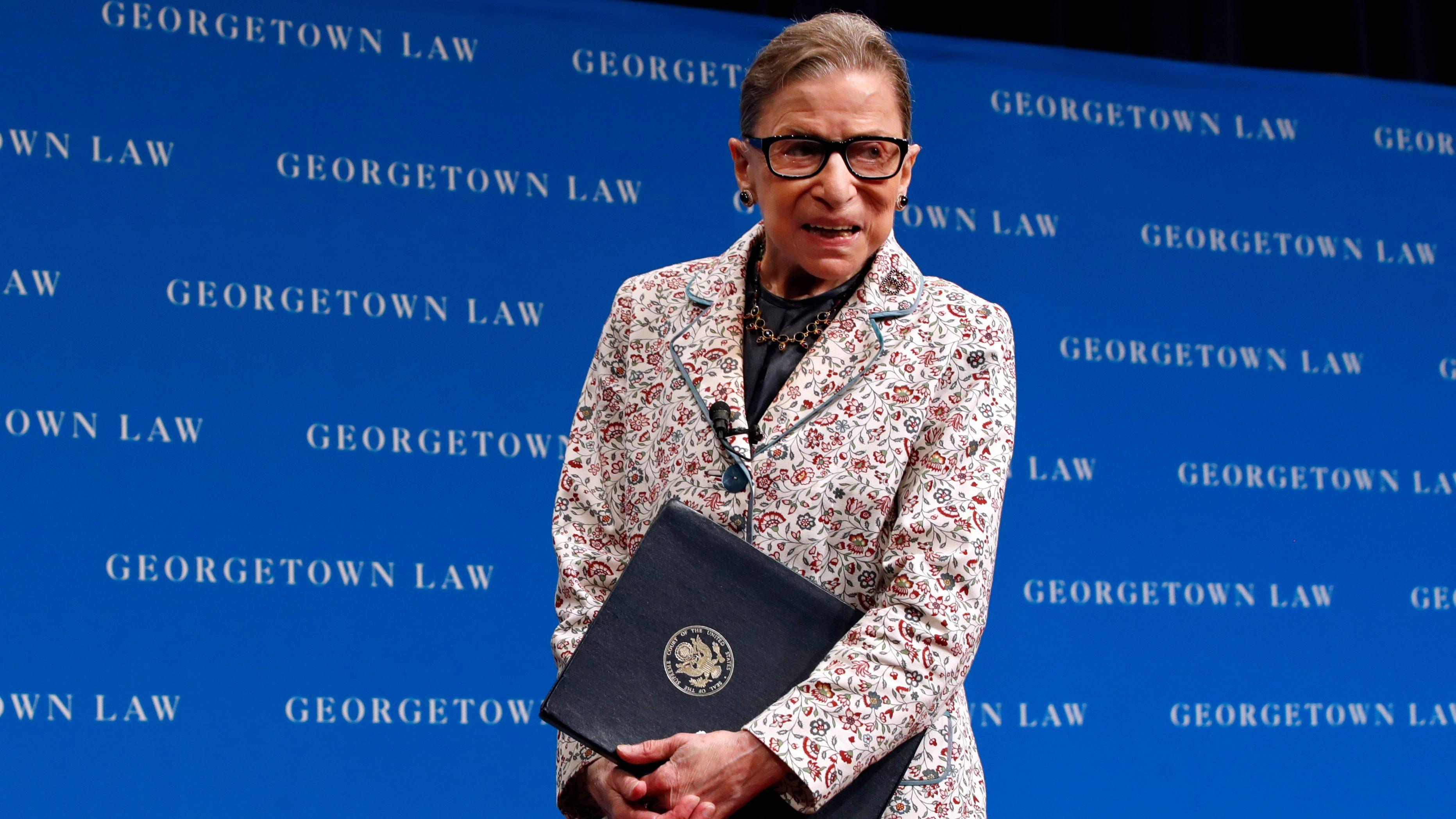 Ruth Bader Ginsburg walking