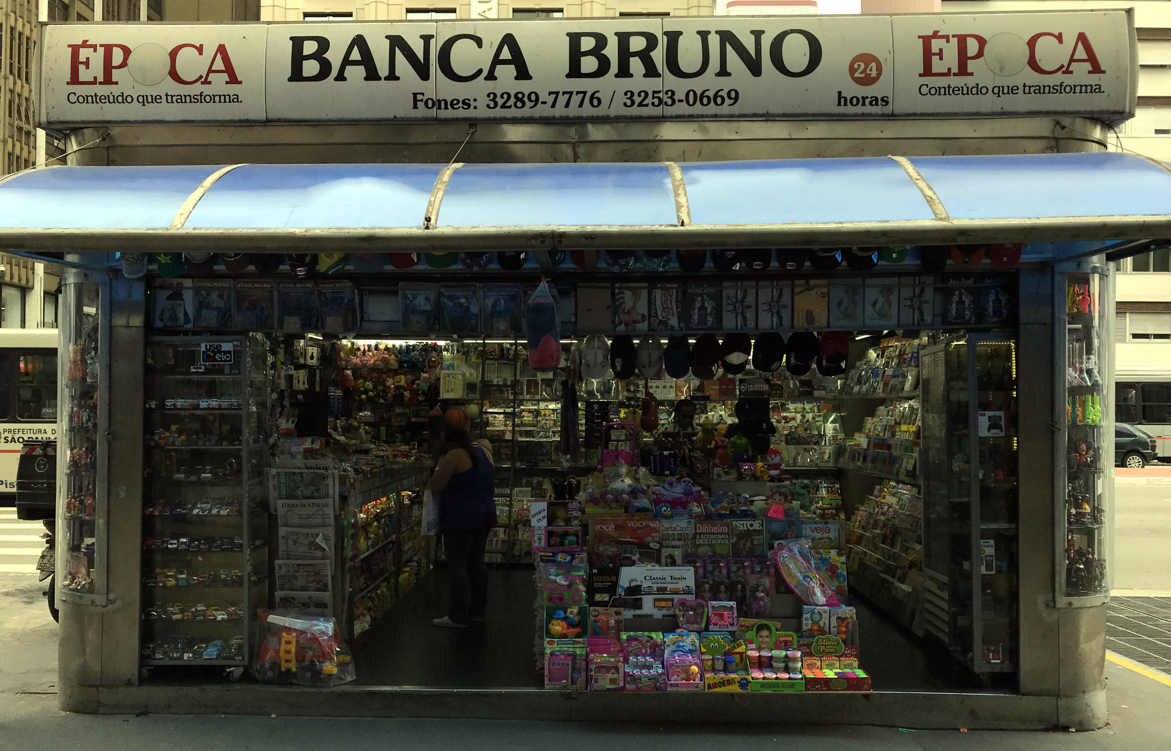 Bruno newsstand in Sao Paulo
