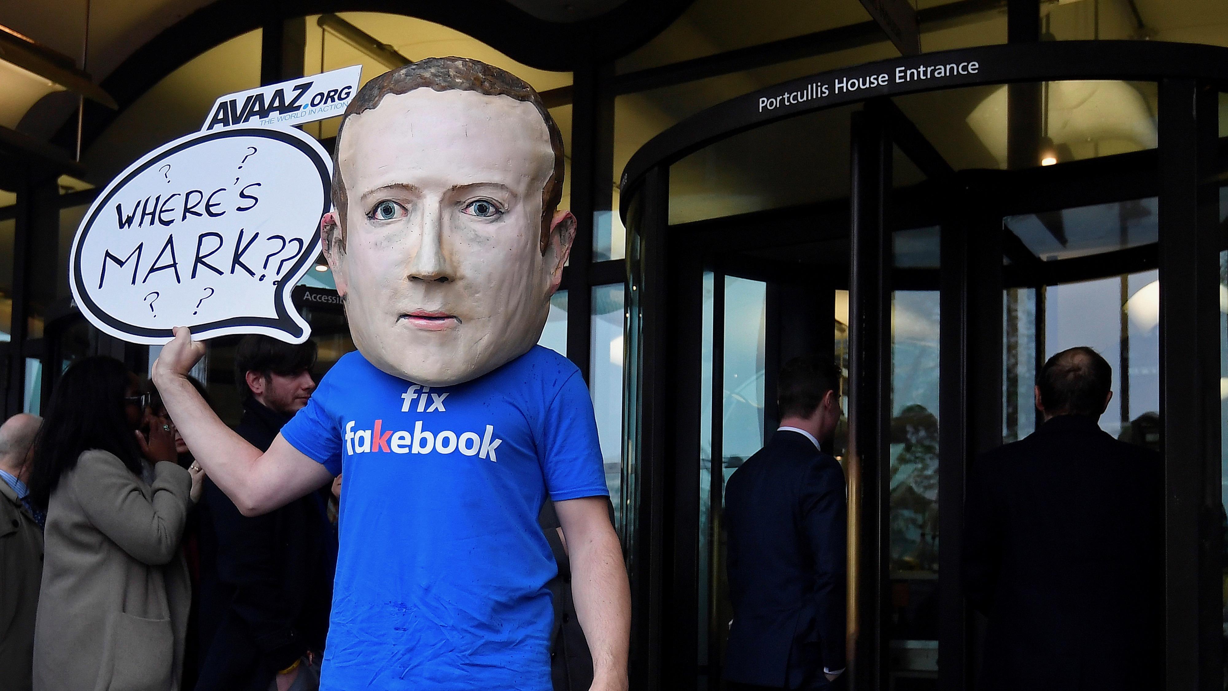 Marc Zuckerberg puppet.