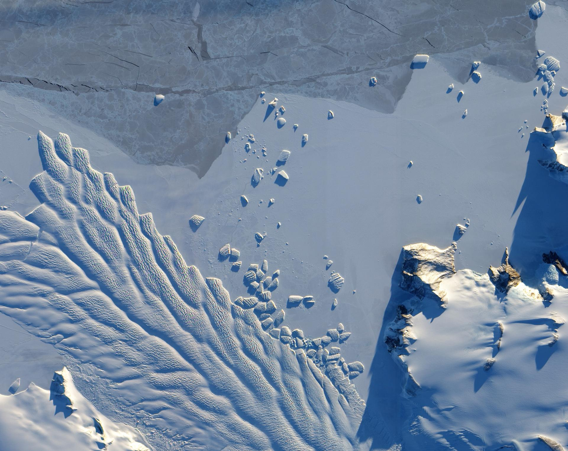 Earth's frozen landscape, seen from space