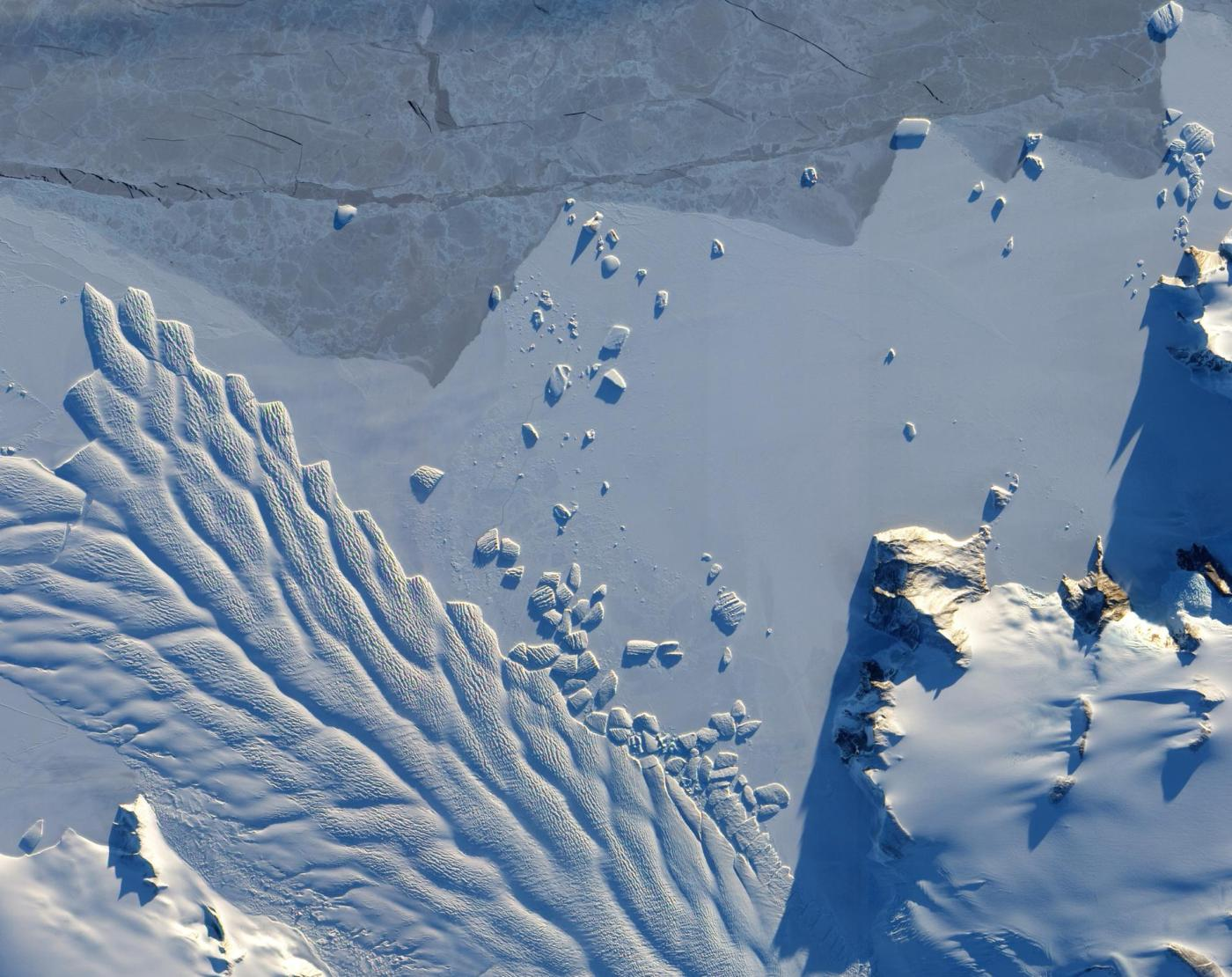 Earth's frozen landscape, seen from space