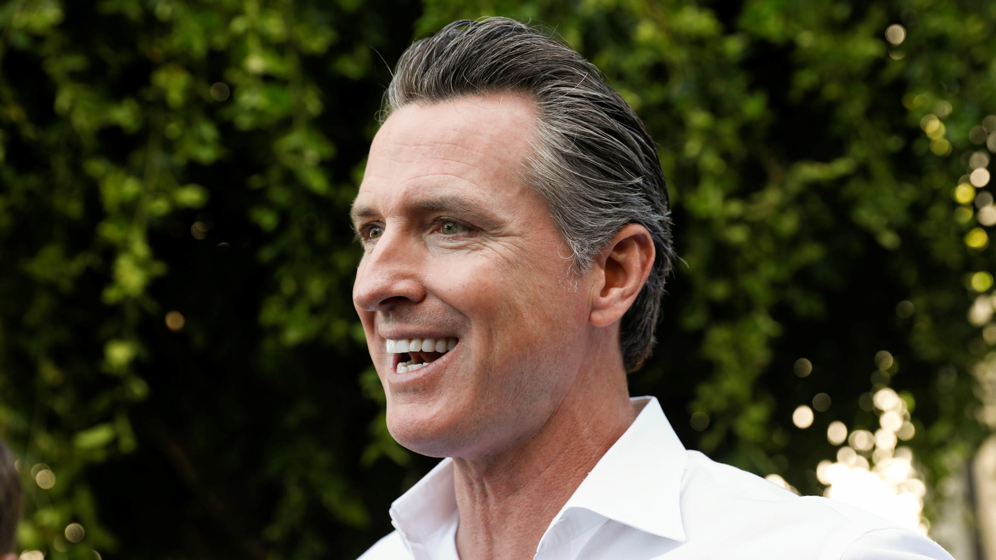 California governor-elect Gavin Newsom