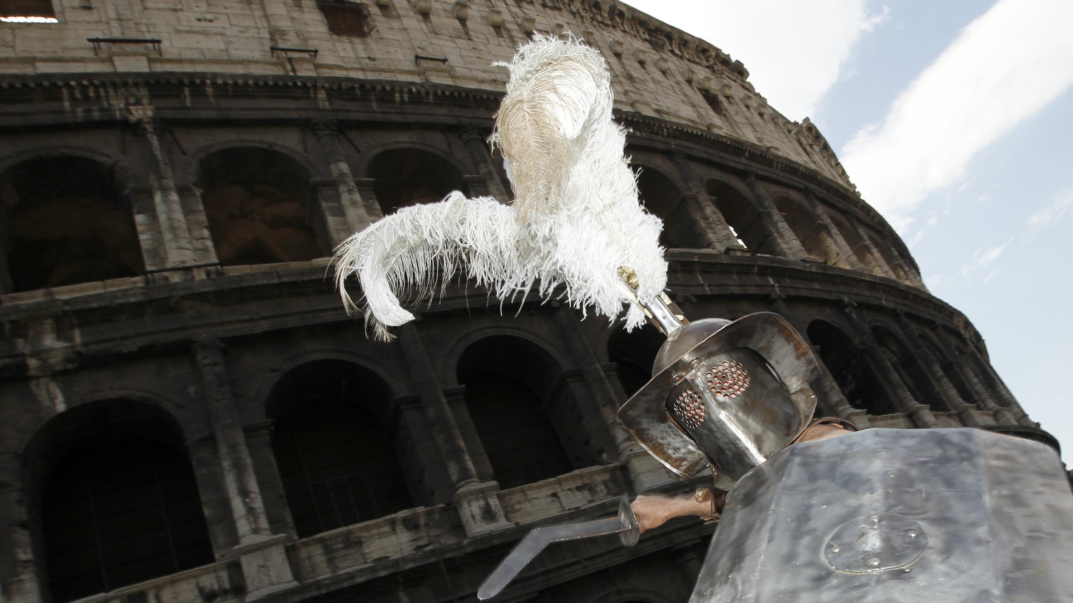 Gladiator in Rome