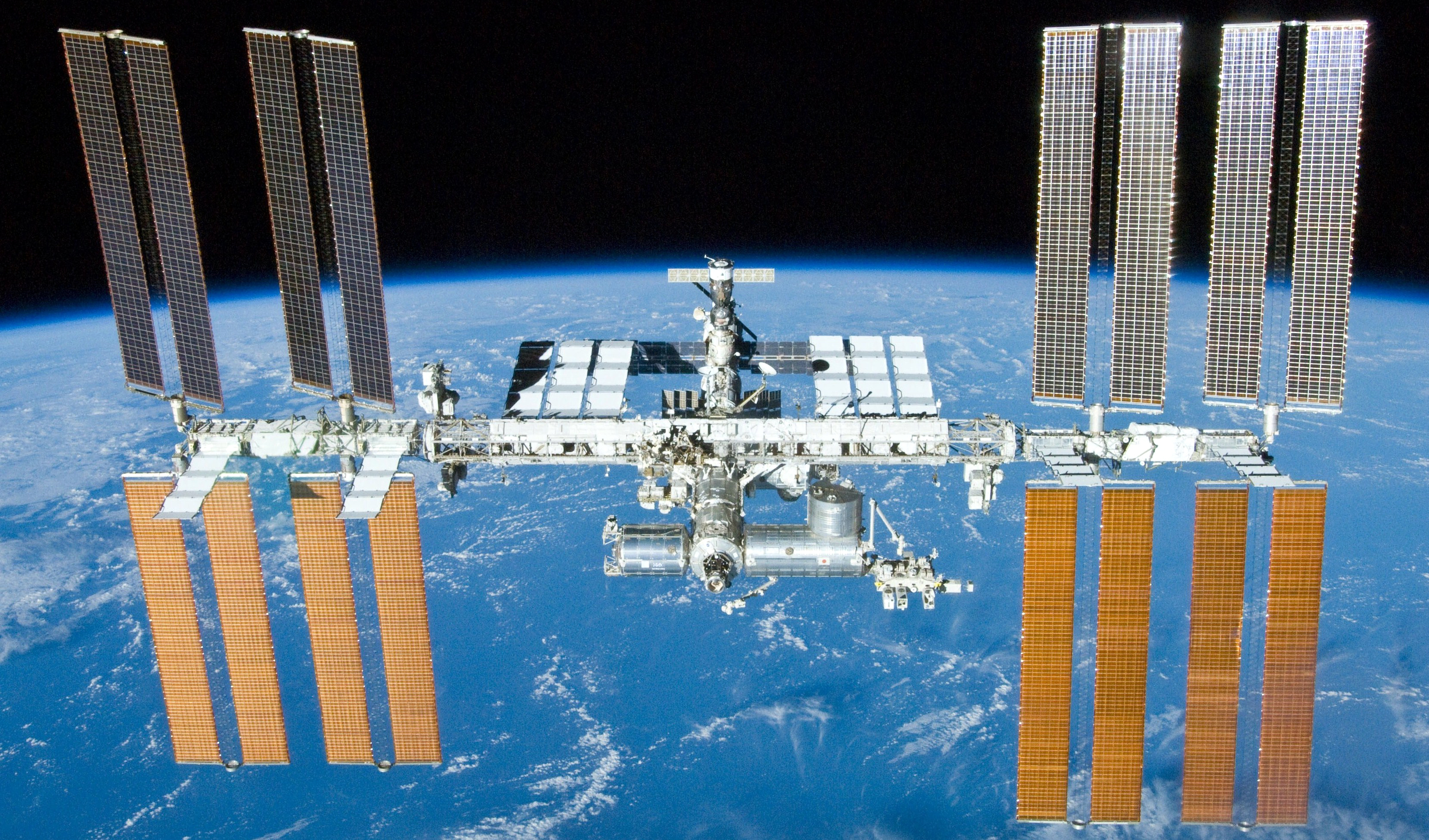 An image of the International Space Station taken on the STS-132 mission in 2010.