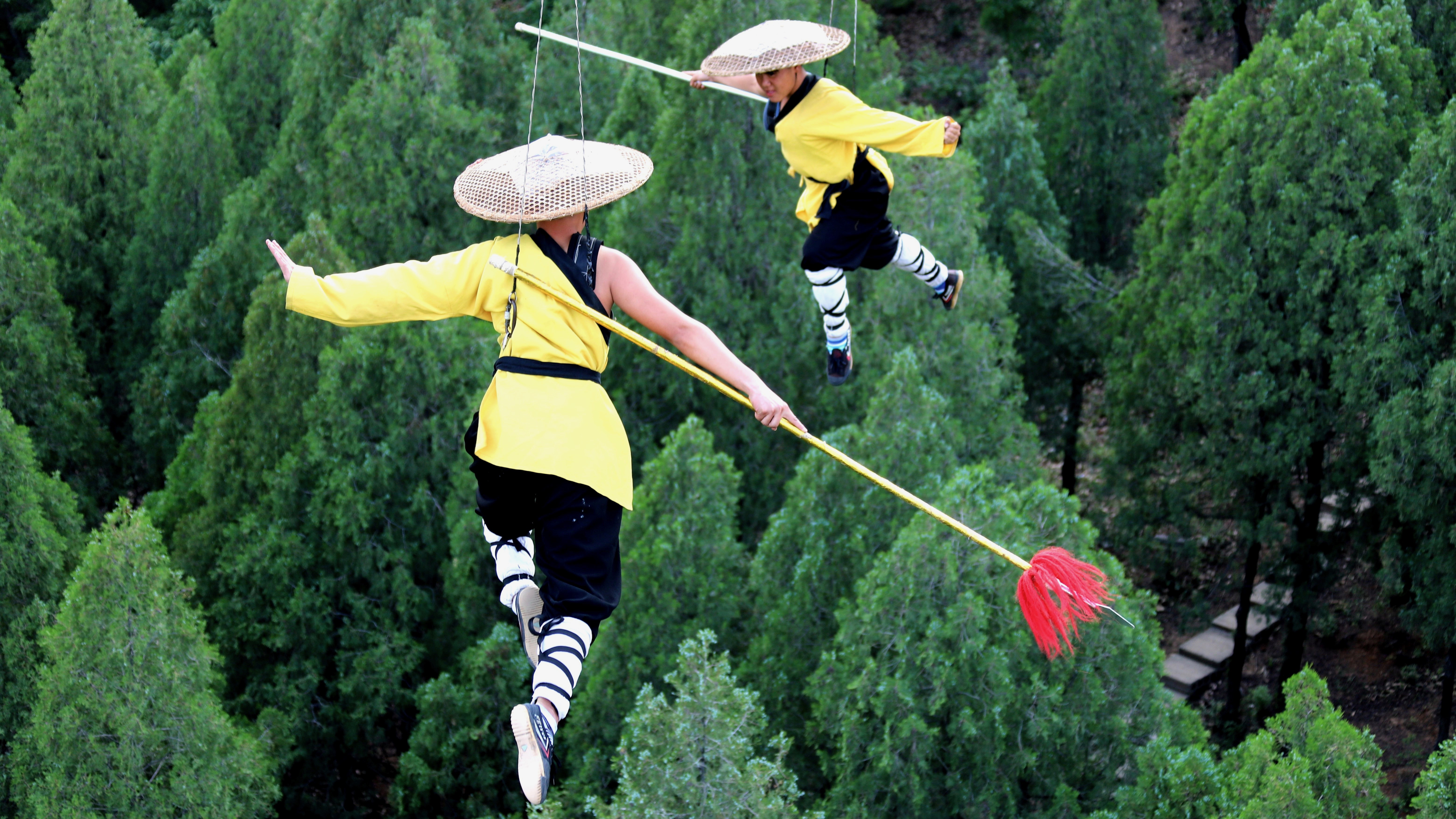 Kung fu practitioners in China.