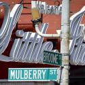 A sign for Little Italy in New York.