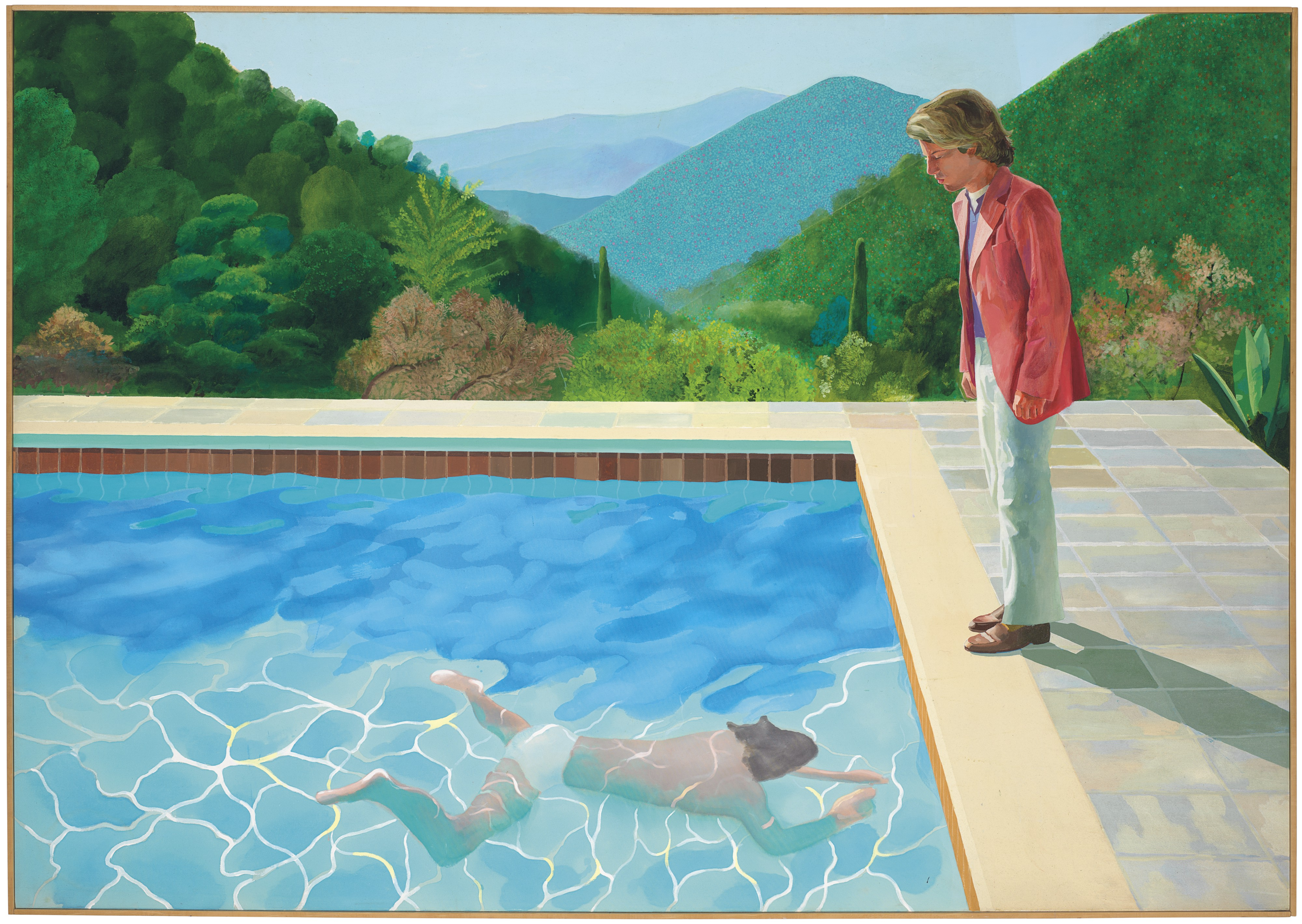 A pool painting by David Hockney is set to become the most expensive by a living artist
