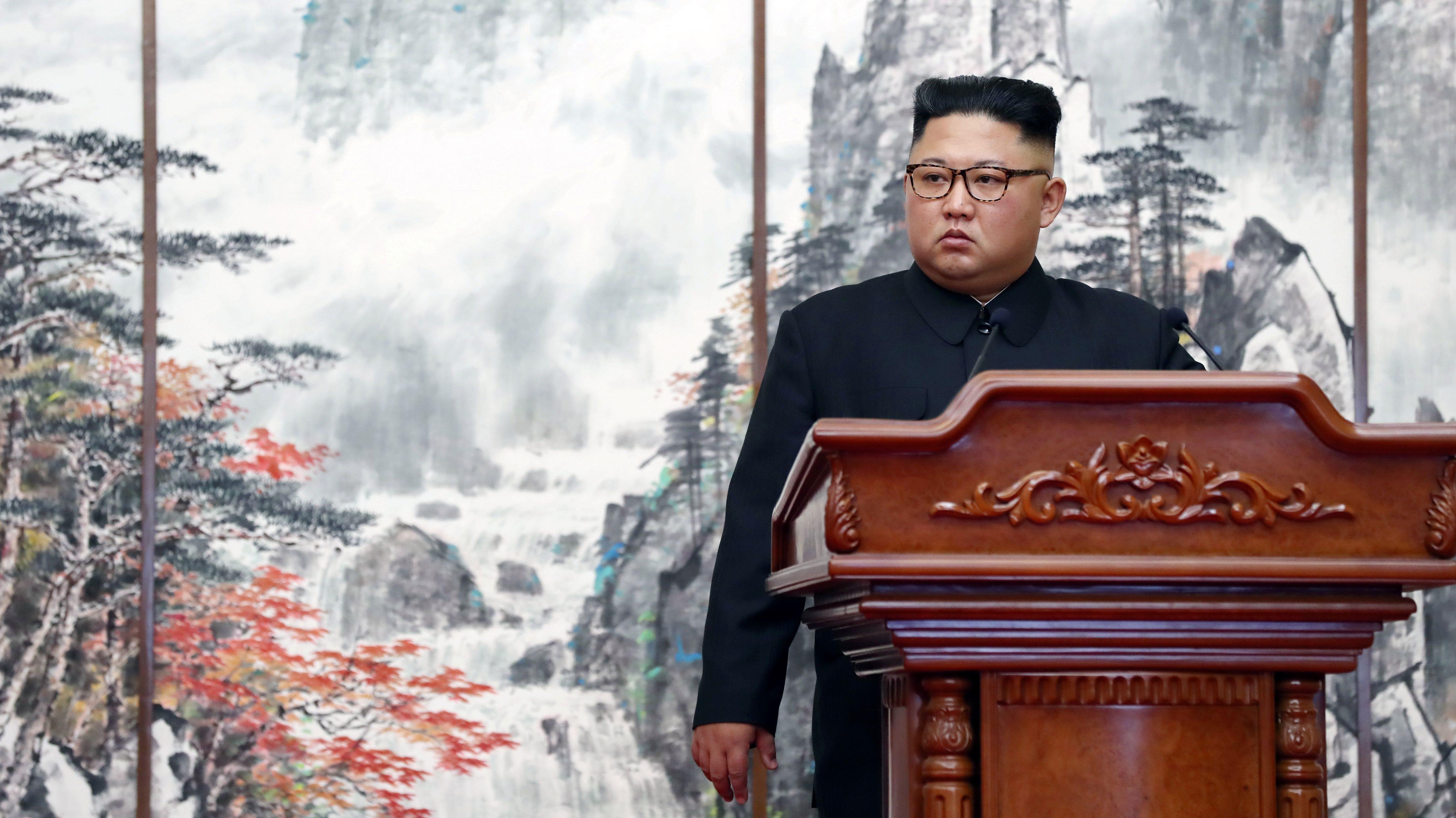 "Kim Jong Un has slammed the ""vicious"" US-led sanctions against North Korea."