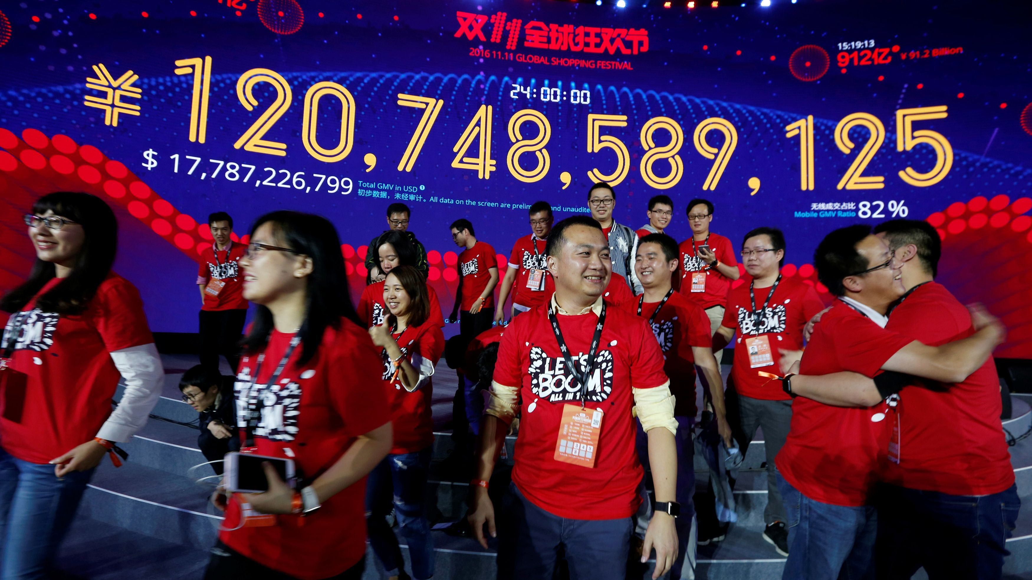 Alibaba Singles Day Sales 2016