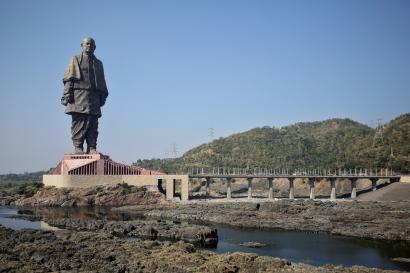 Image result for India's Statue of Unity visible from space: Commercial satellite network 'Planet'