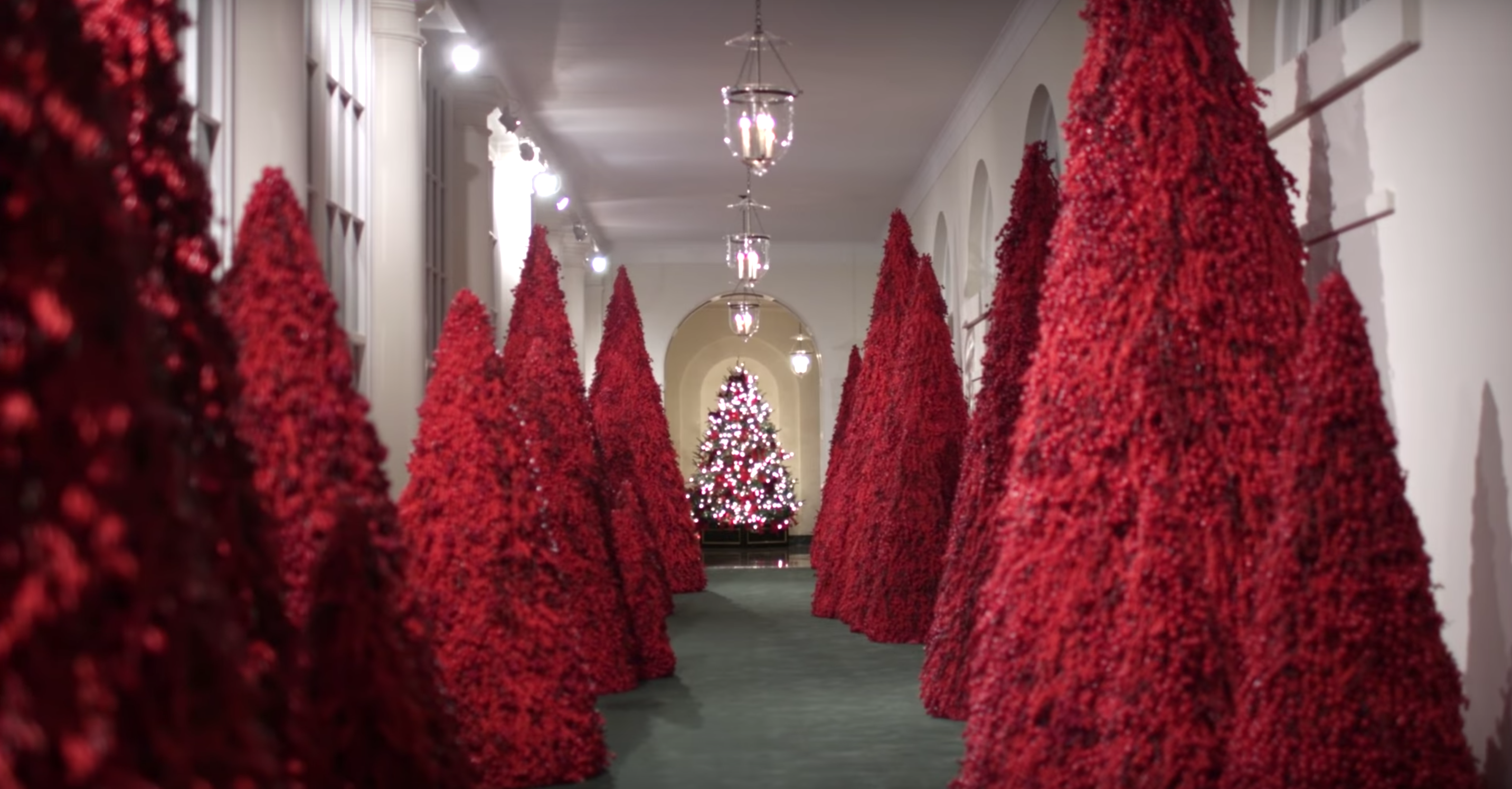The White House's scary Christmas decorations are back