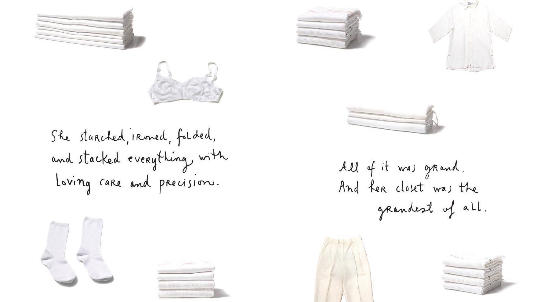 "A spread from the new book ""Sara Berman's Closet"" by Maira Kalman and Alex Kalman."