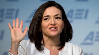 In this Wednesday, June 22, 2016, file photo, Facebook Chief Operating Officer Sheryl Sandberg speaks at the American Enterprise Institute, in Washington.