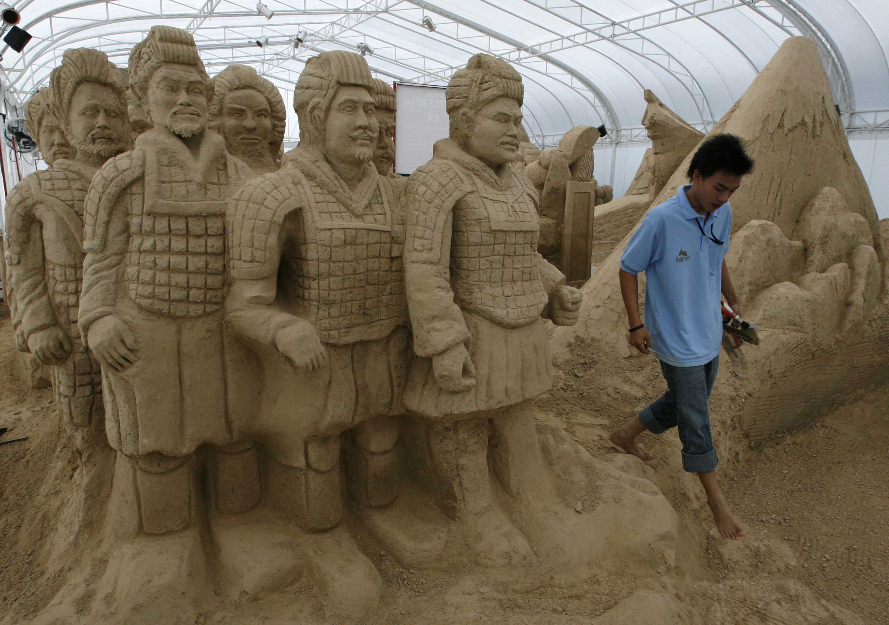 Thai sand castle contest.
