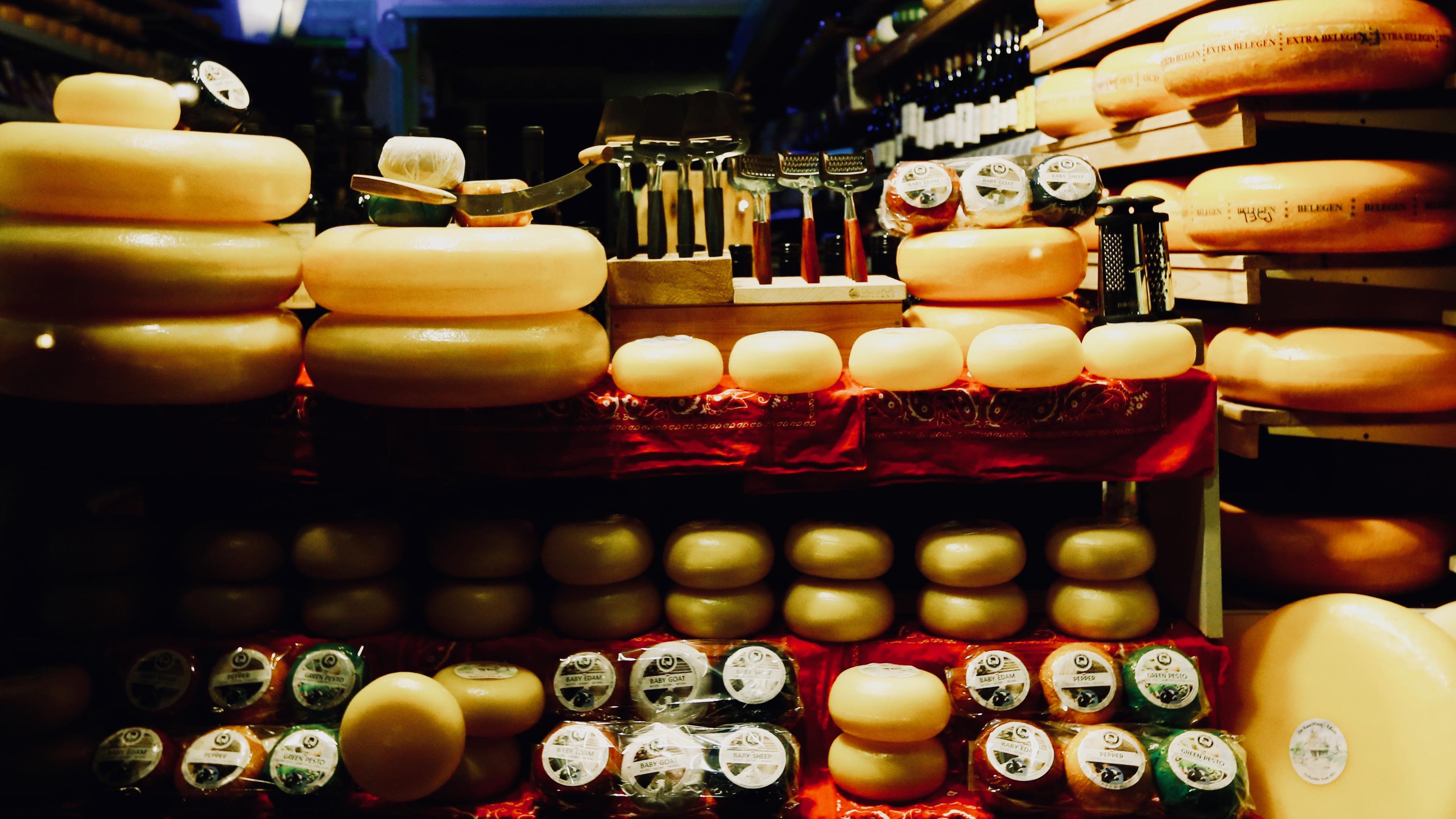 Dutch cheeses.