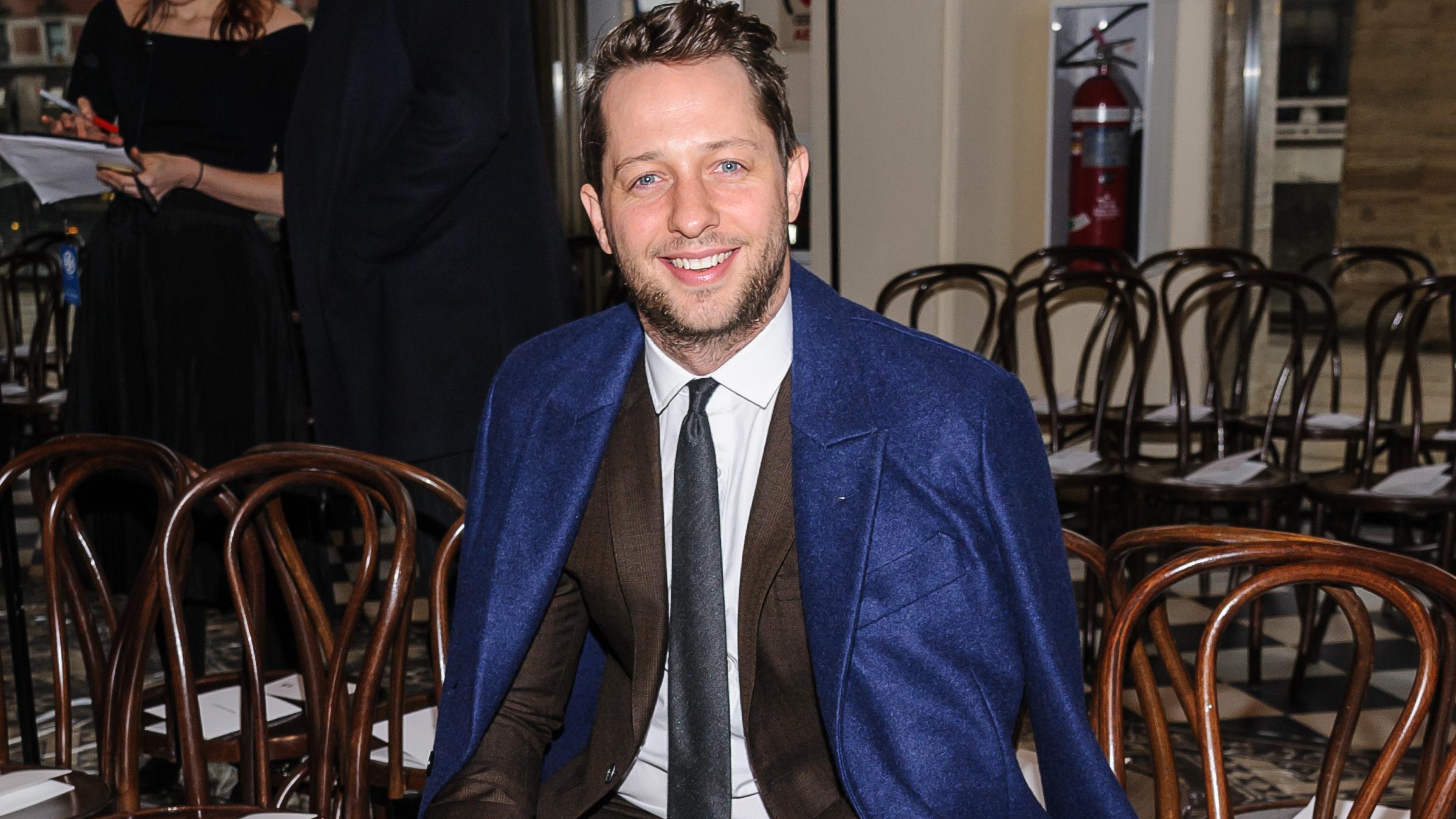 785880571452 Derek Blasberg attends the Tory Burch fashion show in David Geffen Hall at  New York Fashion Week Fall Winter 2016 on Tuesday