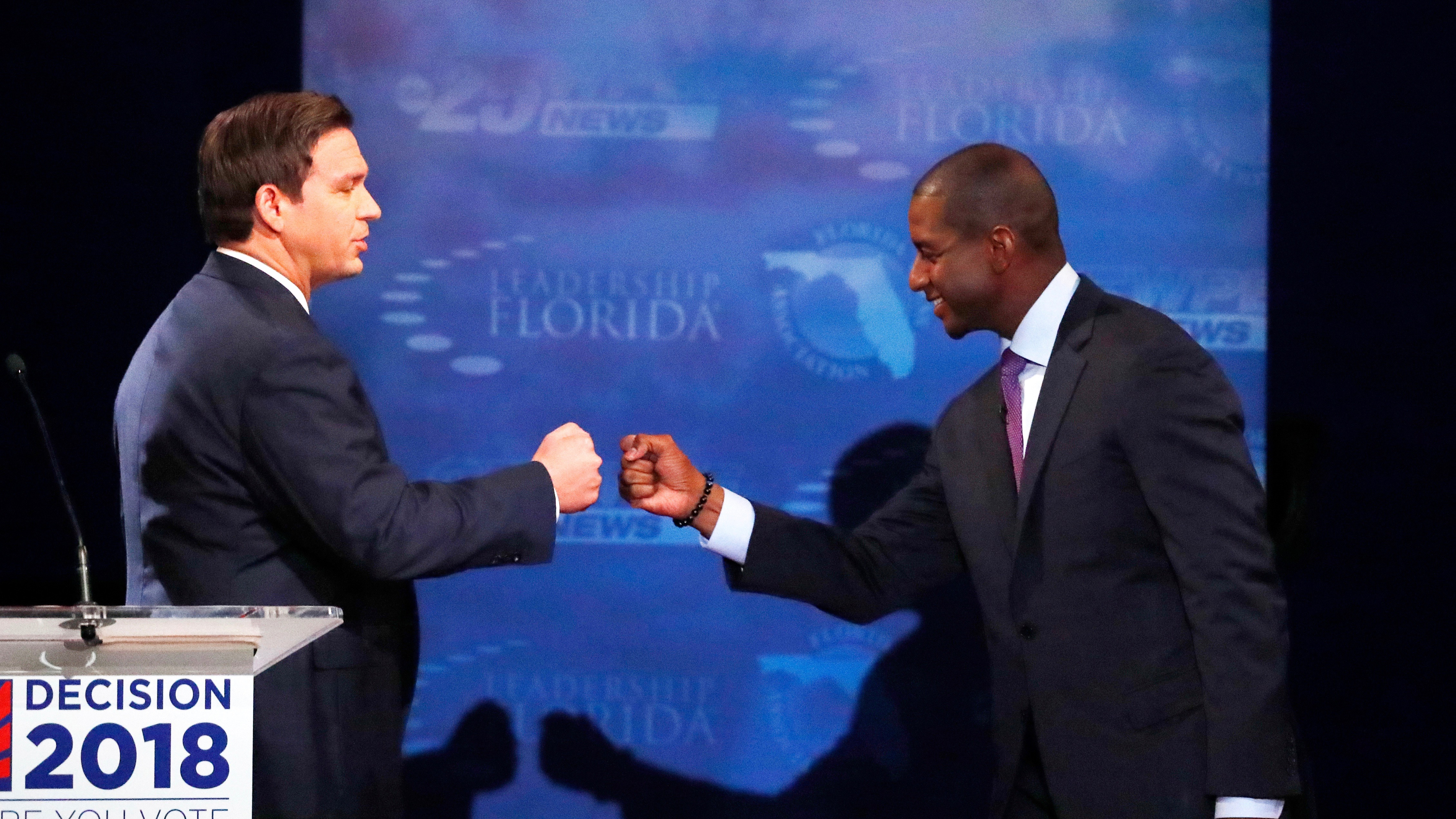 Ron DeSantis and Andrew Gillum are still racing.