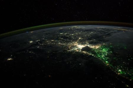 Pictures of Earth at night from the International Space