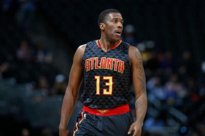 FILE--In this Jan. 25, 2016, file photo Atlanta Hawks guard Lamar Patterson stand on the court in the second half of an NBA basketball game in Denver. Australian National Basketball League Brisbane Bullets recruit Lamar Patterson was briefly detained after landing in Brisbane on Thursday, Nov. 1, 2018, with his dog, Kobe. (AP Photo/David Zalubowski, File)