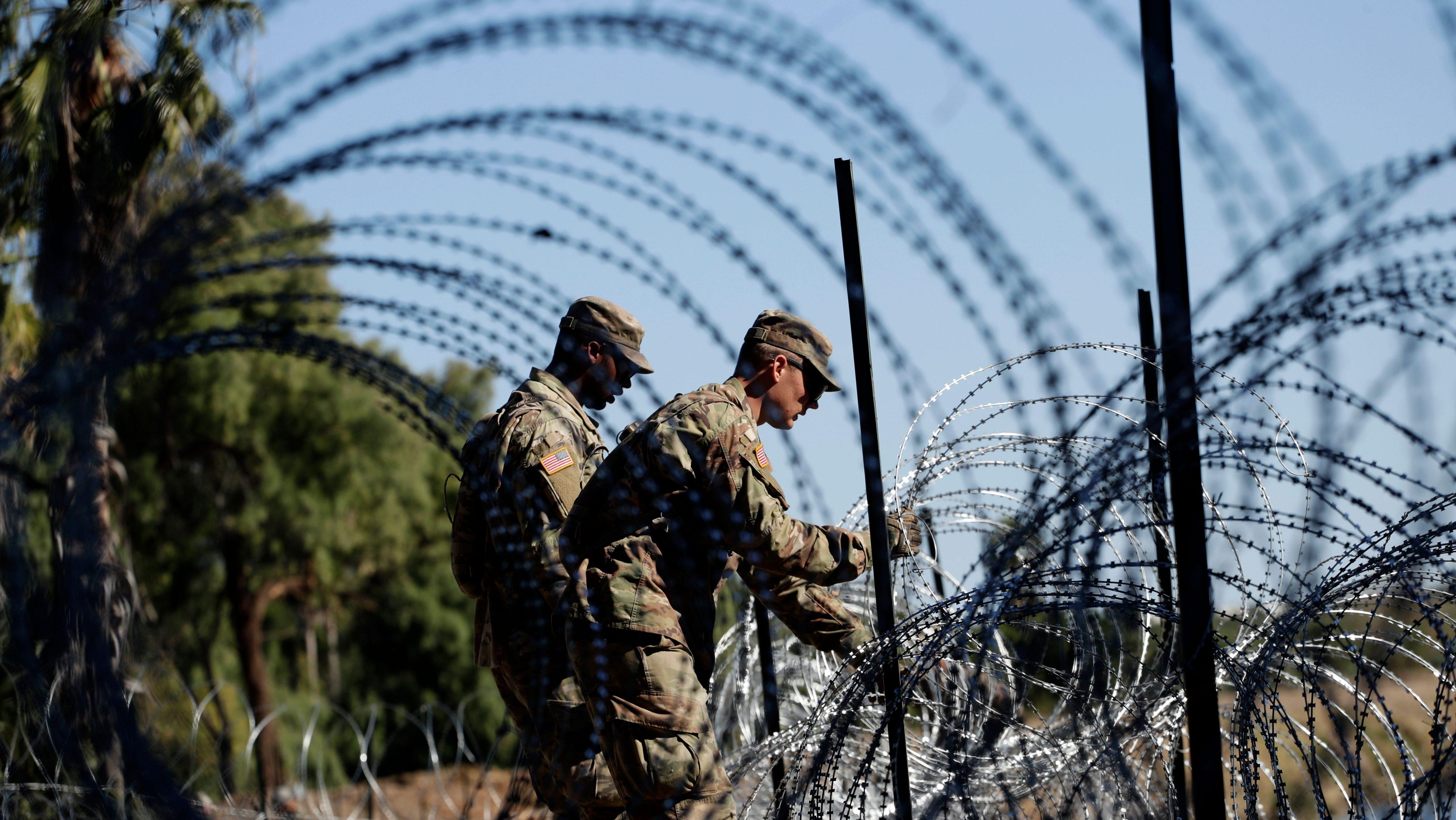 Troops in Laredo, Texas.