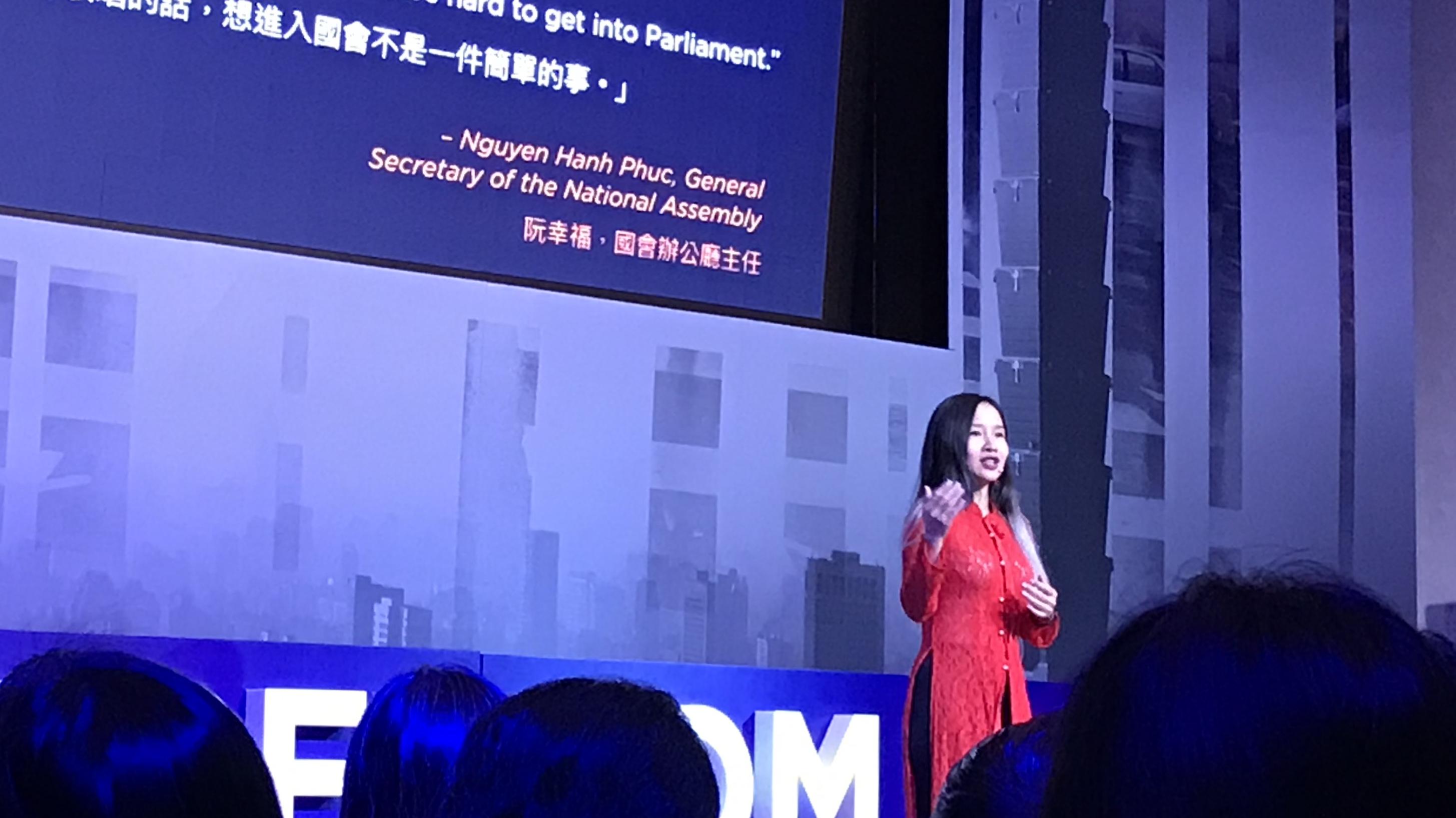 oslo freedom forum mai khoi vietnamese pop singer