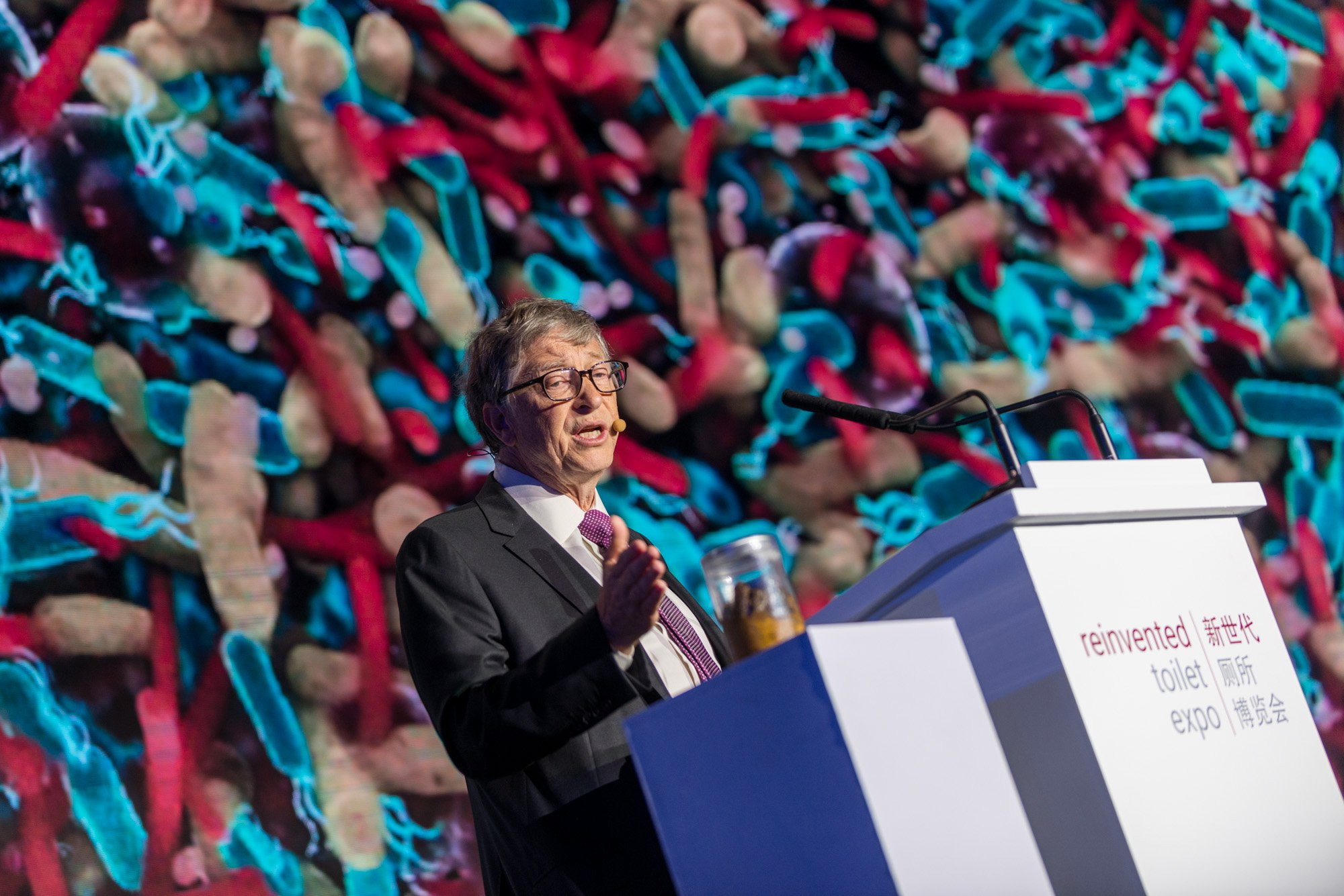 Bill Gates at Reinvented Toilet Expo, Beijing, China, Nov. 6 2018