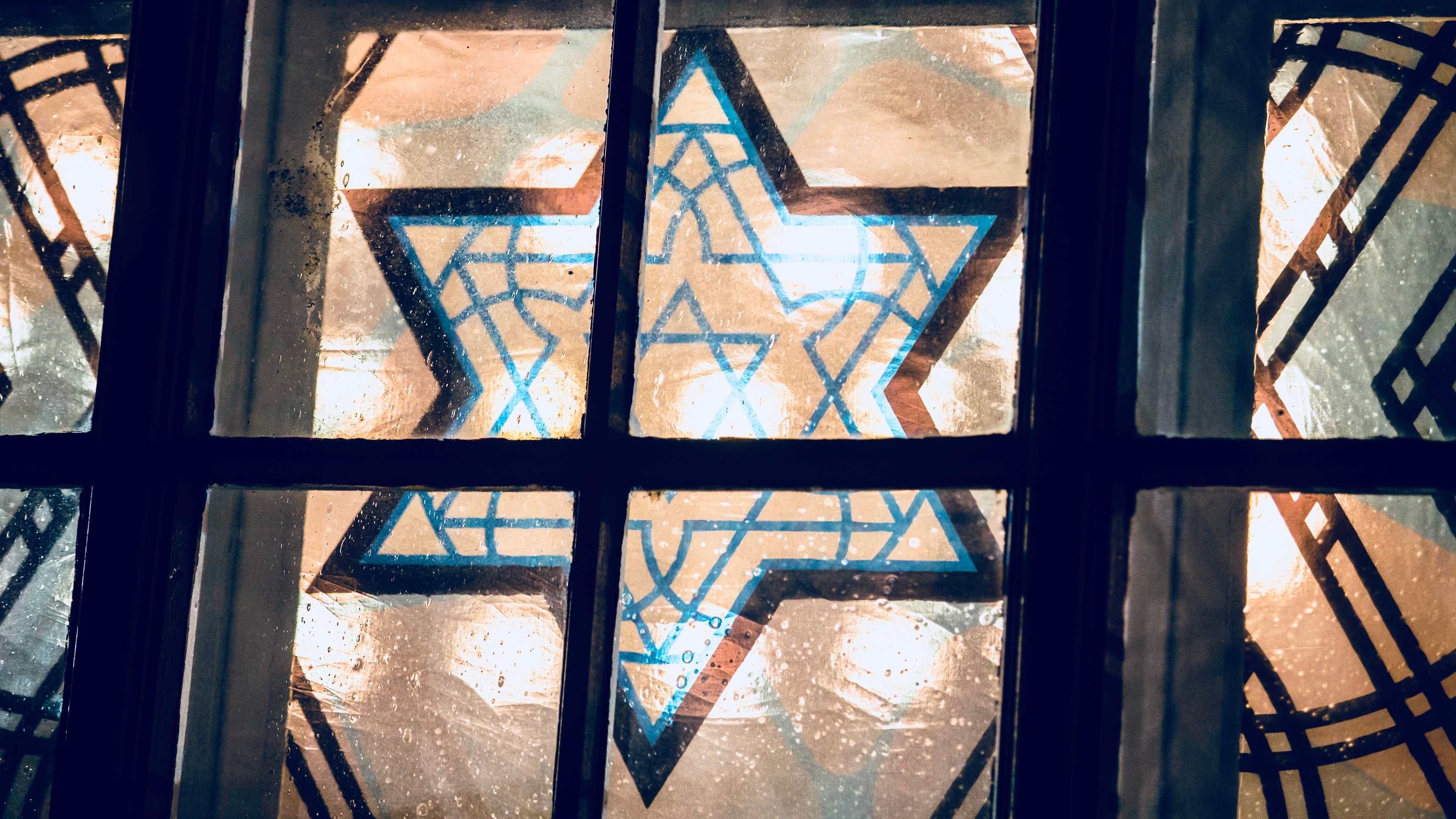 Star of David in stained glass.