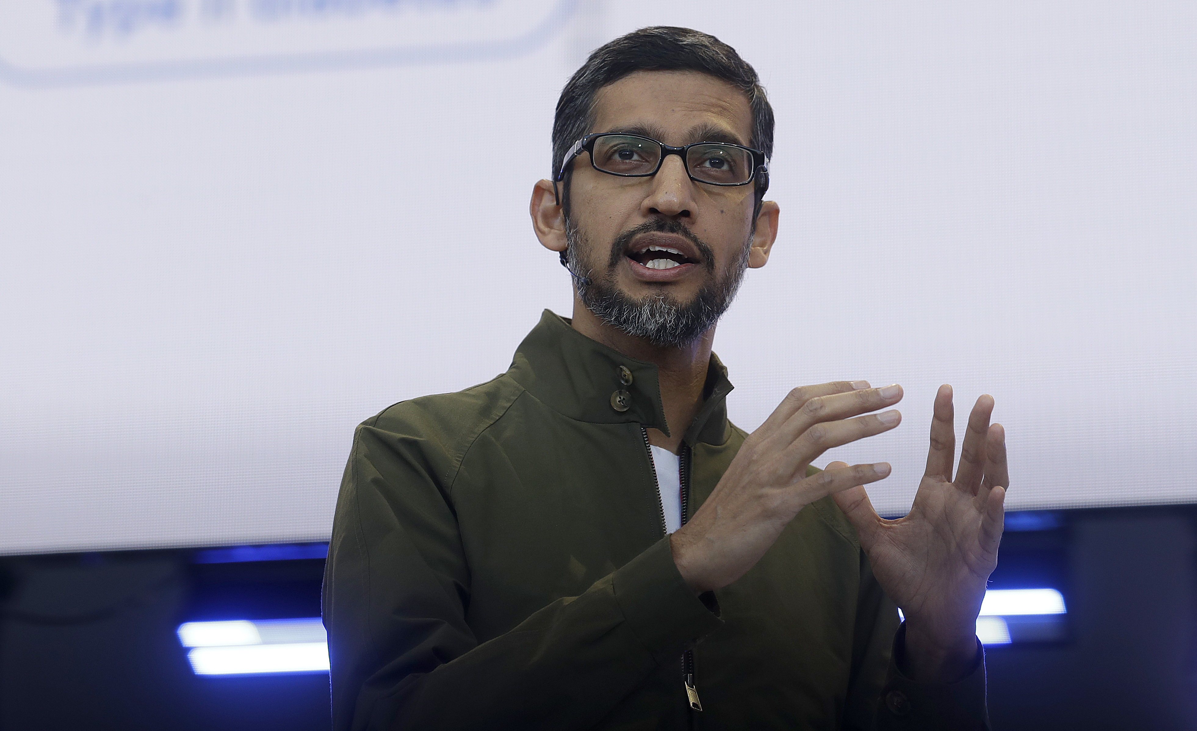 Google CEO Pichais memo regarding changes to sexual harassment policy forecasting