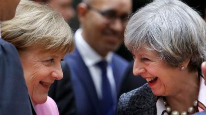 British Prime Minister Theresa May and German Chancellor Angela Merkel