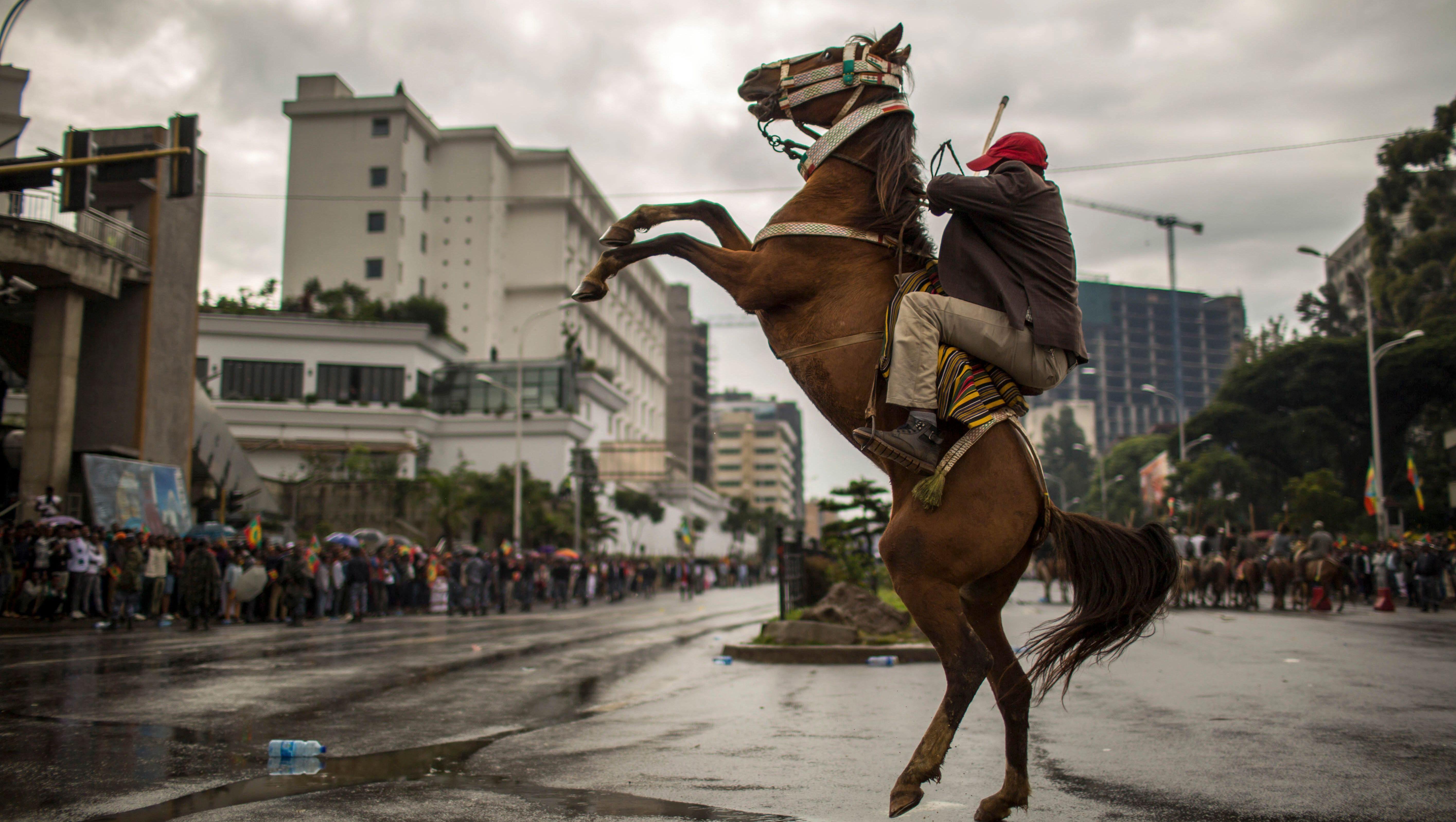 Ethiopian photographers document change, Abiy Ahmed at Addis