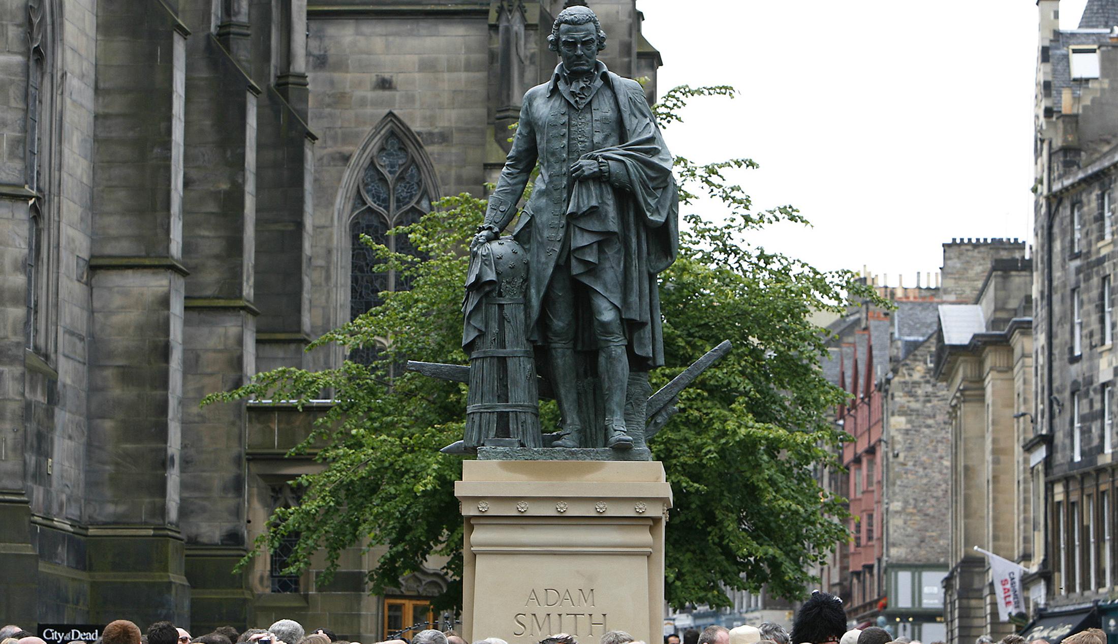 A statue of Adam Smith