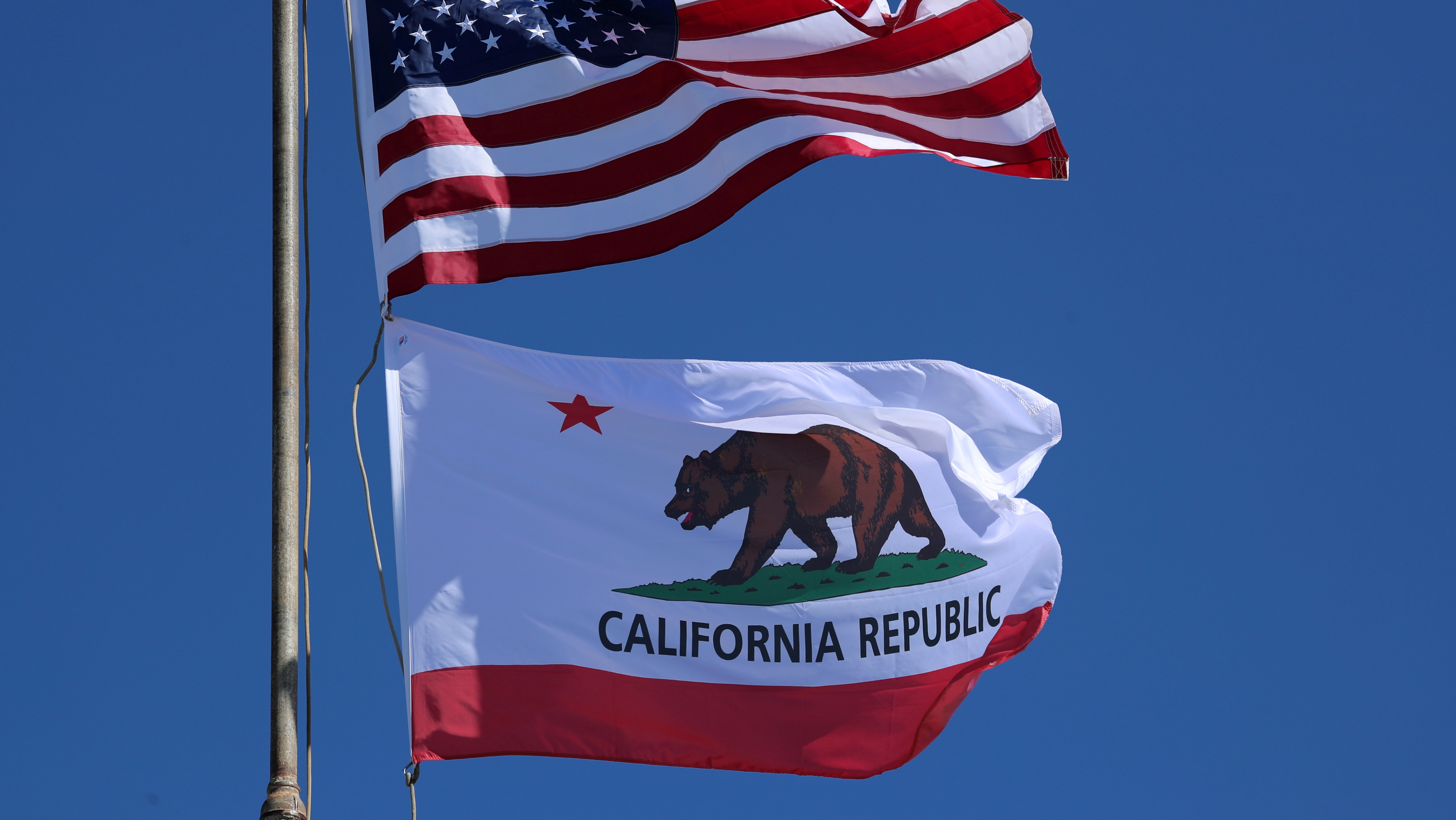 All Sizes California State and American Flag Combination You Pick Made In USA