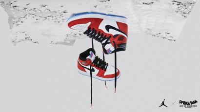"c3849a09eaac8f How Air Jordan 1s got to star in ""Spider-Man  Into the Spider-Verse ..."