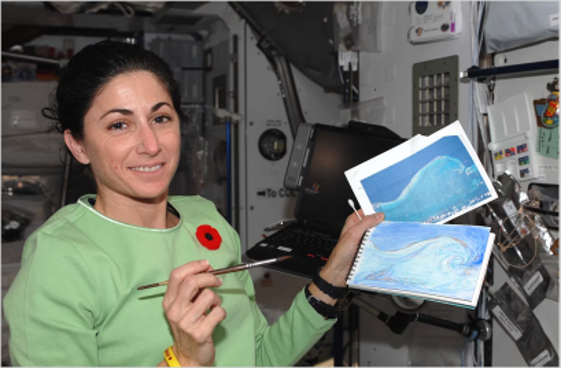 nicole stott painting in space