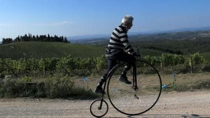 Cyclist in italy